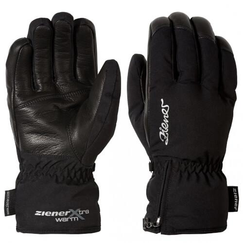 ZIENER Damen Ski Handschuhe Klena 12 schwarz
