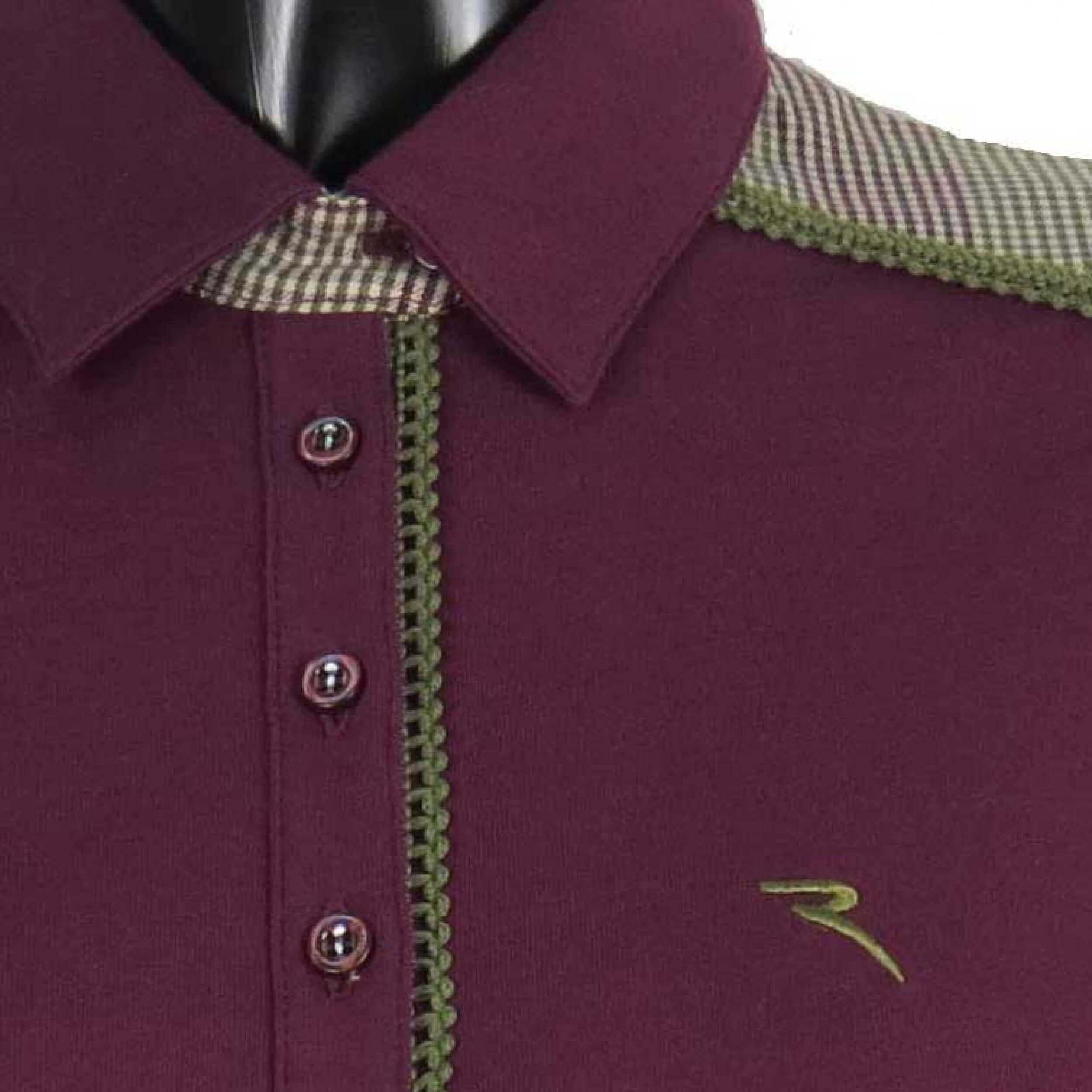Chervo Polo Golfpolo lang Arm Aerea 896 bordeaux Gr. 36