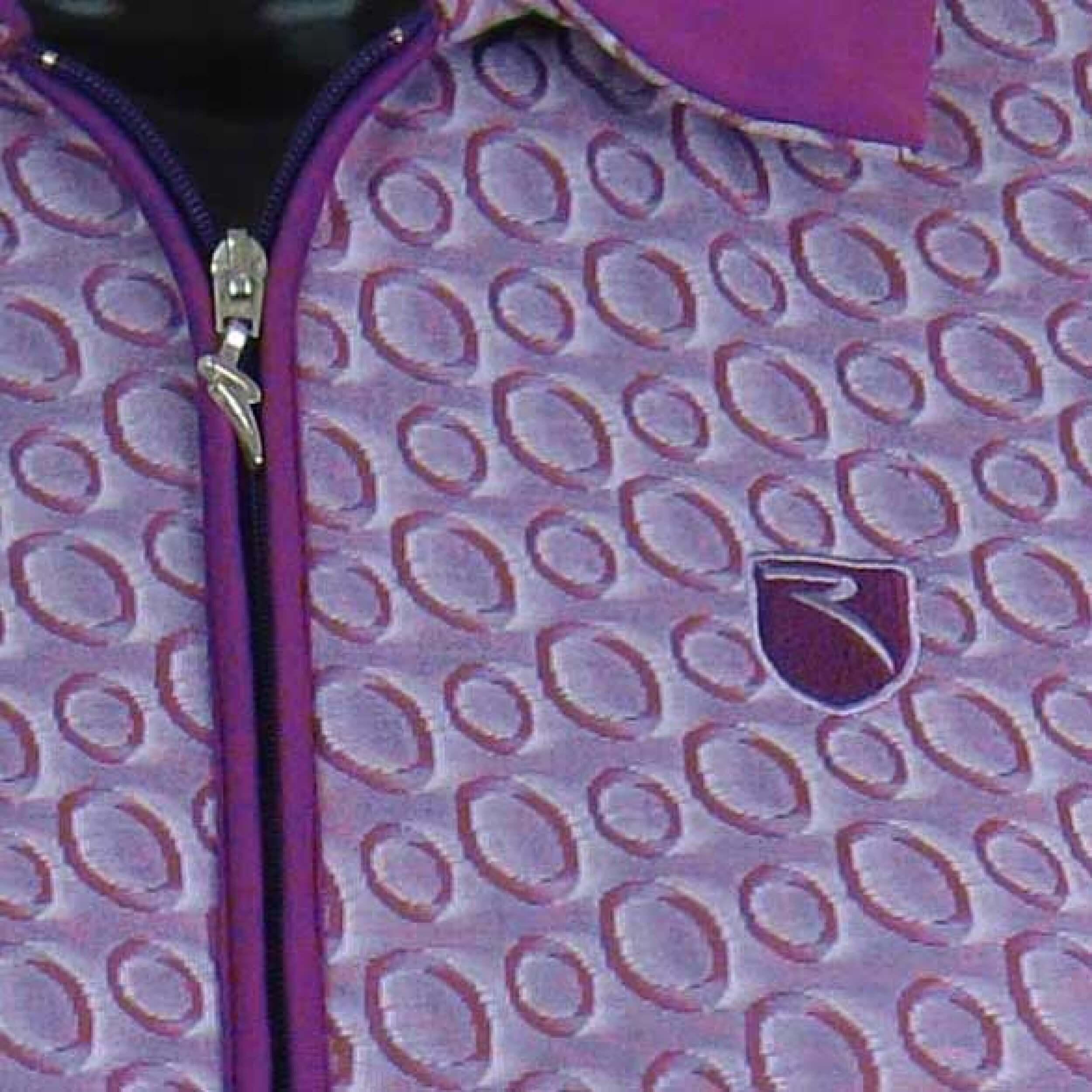 Chervo Polo Golfpolo lang Arm Ardalo 11G lila gemustert Gr. 36