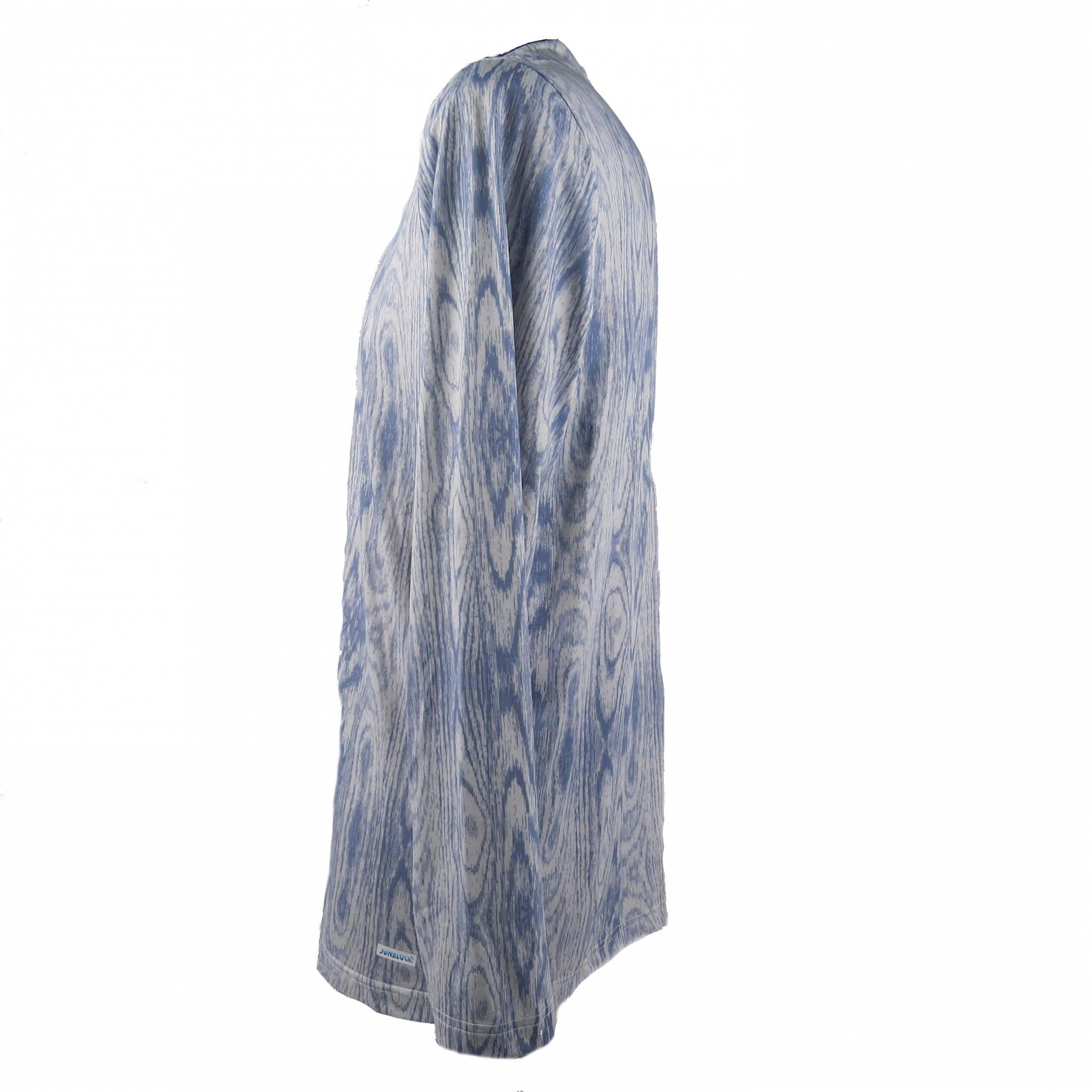 Chervo Herren Langarm Funktionsshirt Sunblock  Tabasco blau/weiß 22A 2.Wahl