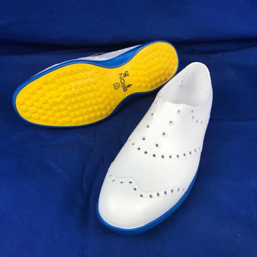 Biion Golfschuhe Oxford Brights weiß blau BOB-1019