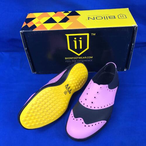 Biion Golfschuhe Classics pink schwarz BCL 1005