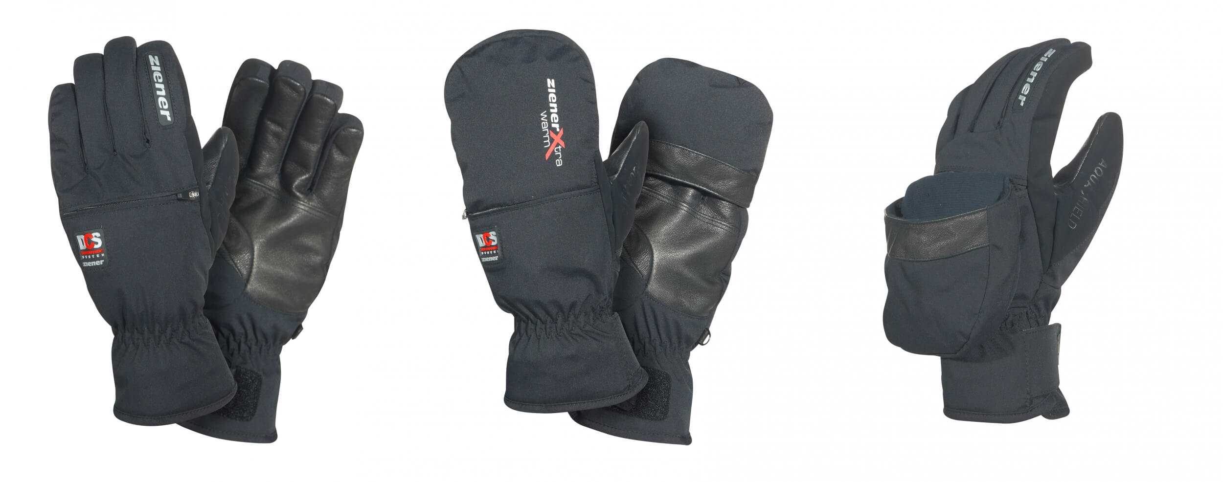 ZIENER Ski Handschuhe extra warm Galliano DCS 12 schwarz