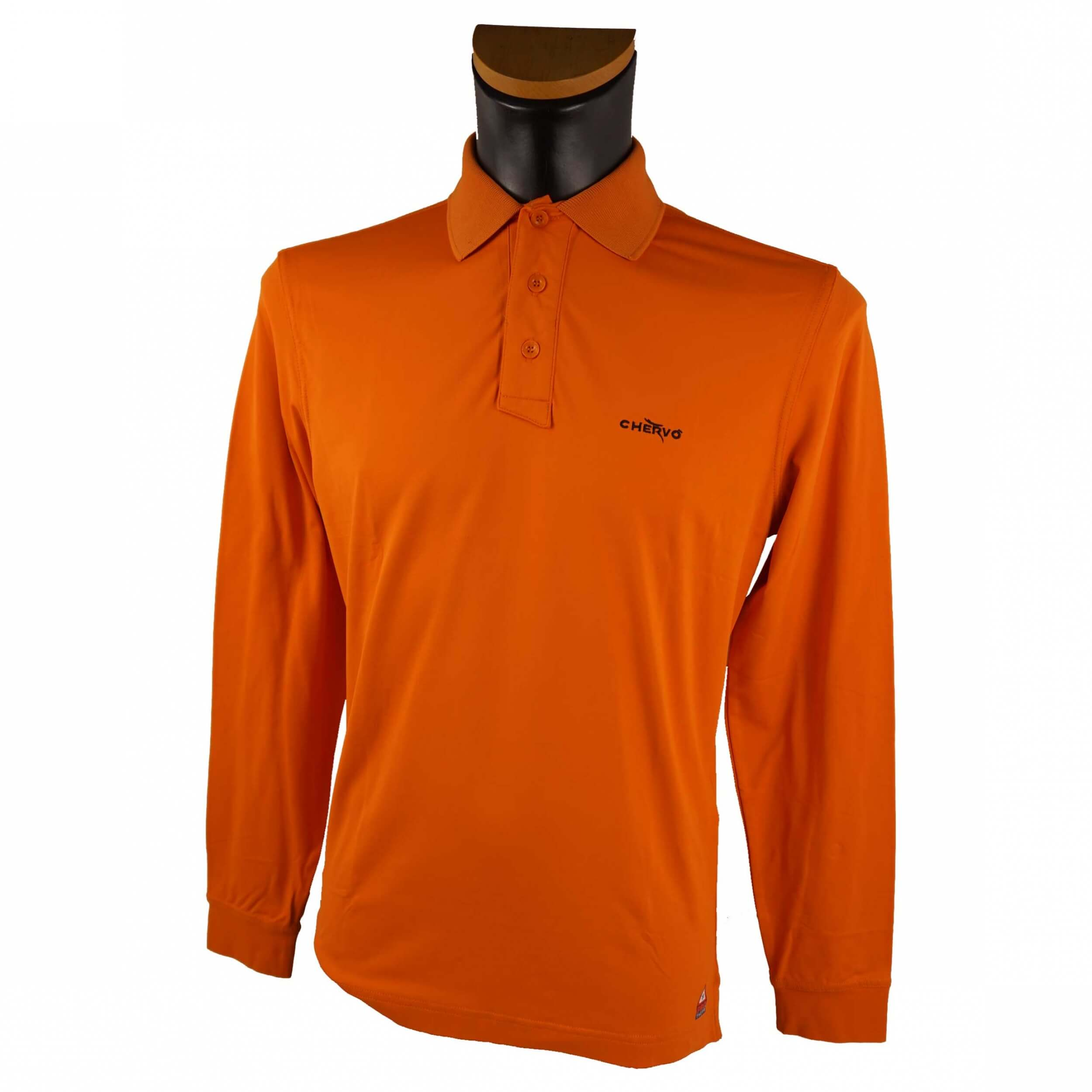 Chervo Herren Polo lang Arm Anguy 364 orange 2.Wahl