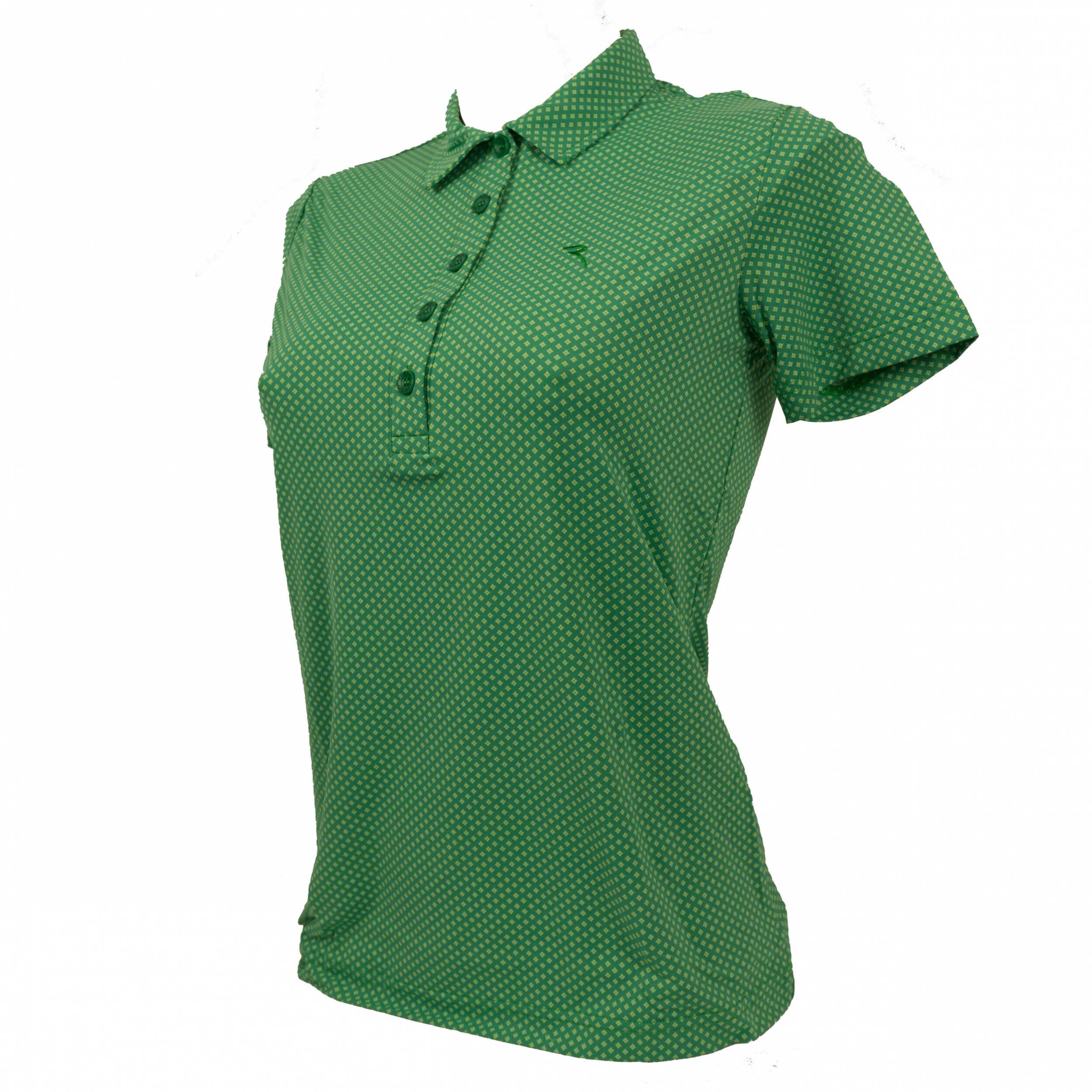Chervo Damen Polo Appennini DRY MATIC 46F grün Raute