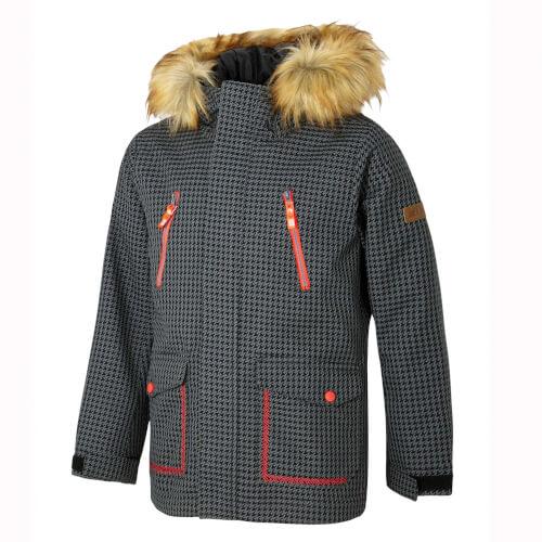 ZIENER Kinder Skijacke Abudi grau pepita 984