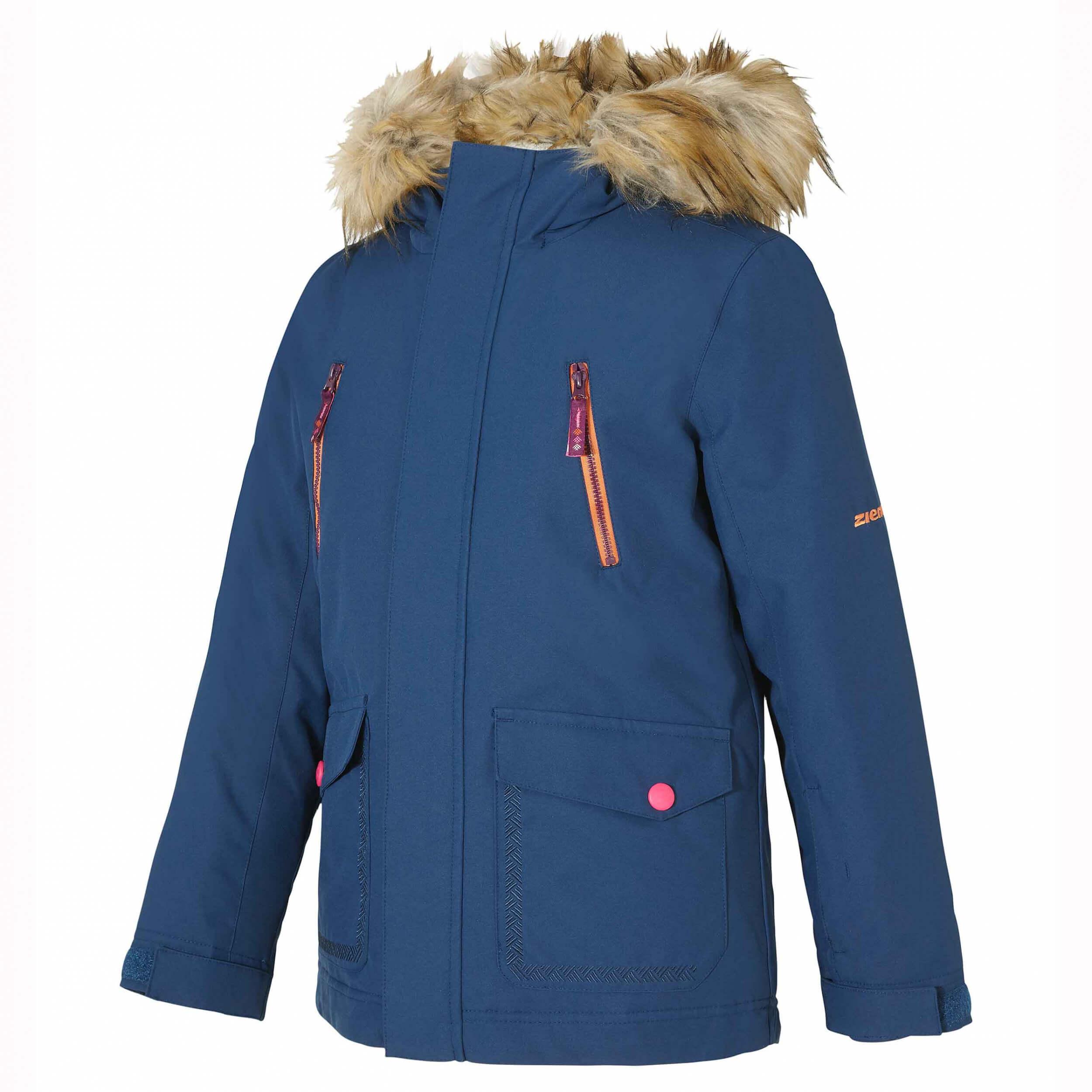 ZIENER Kinder Skijacke Abudo blau 143861