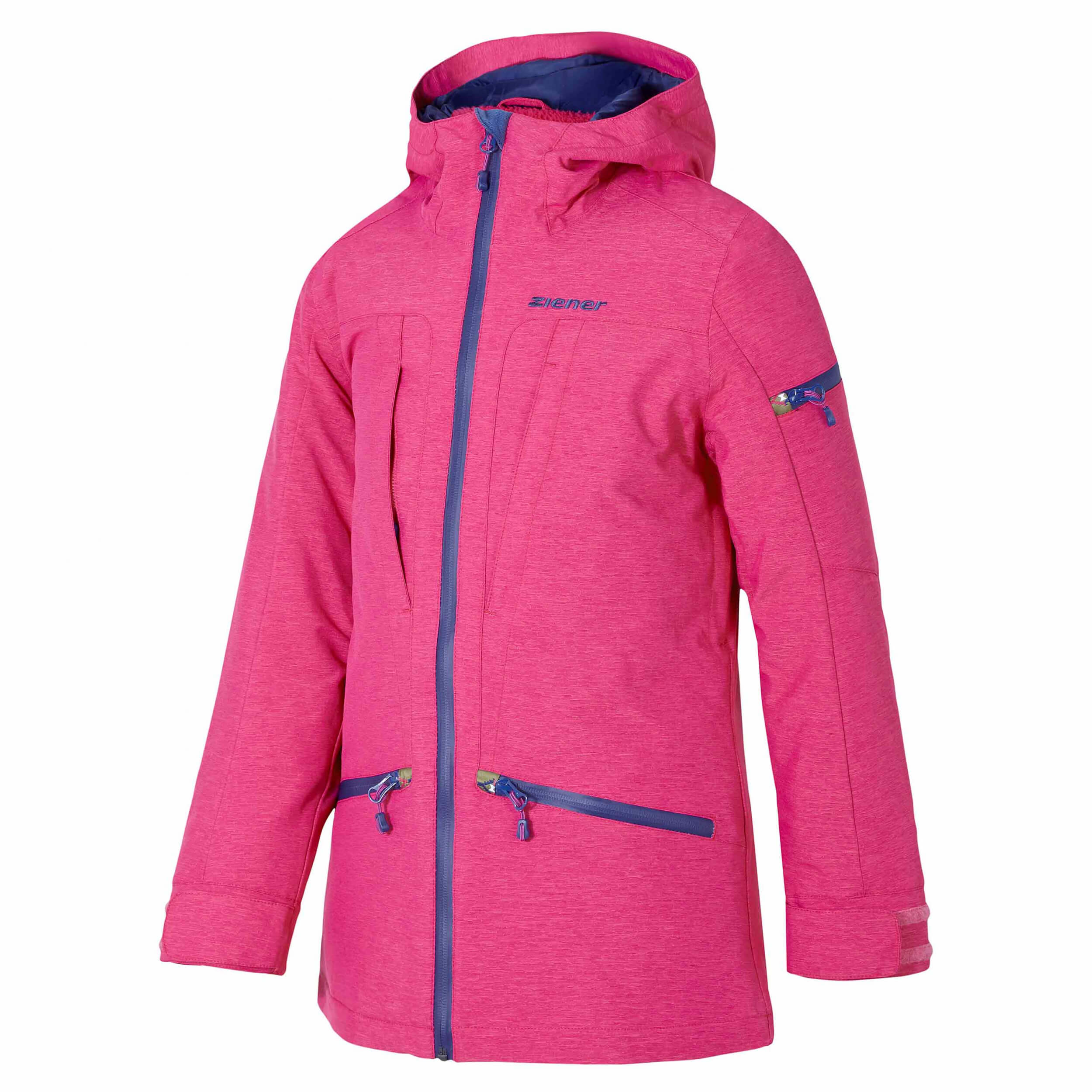ZIENER Kinder Skijacke Yette pink 851