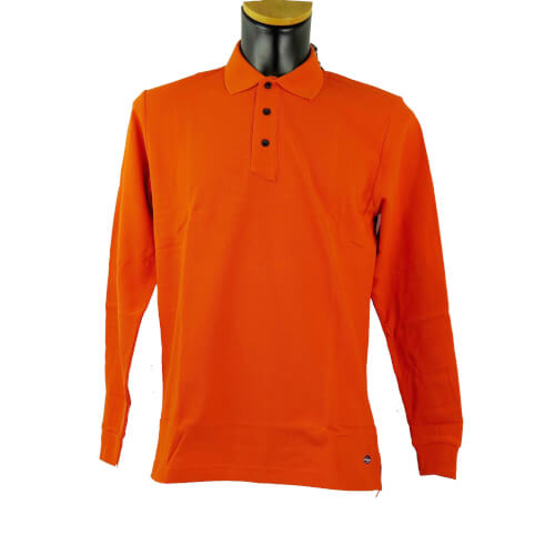 Chervo Herren Polo lang Arm Albino orange 363