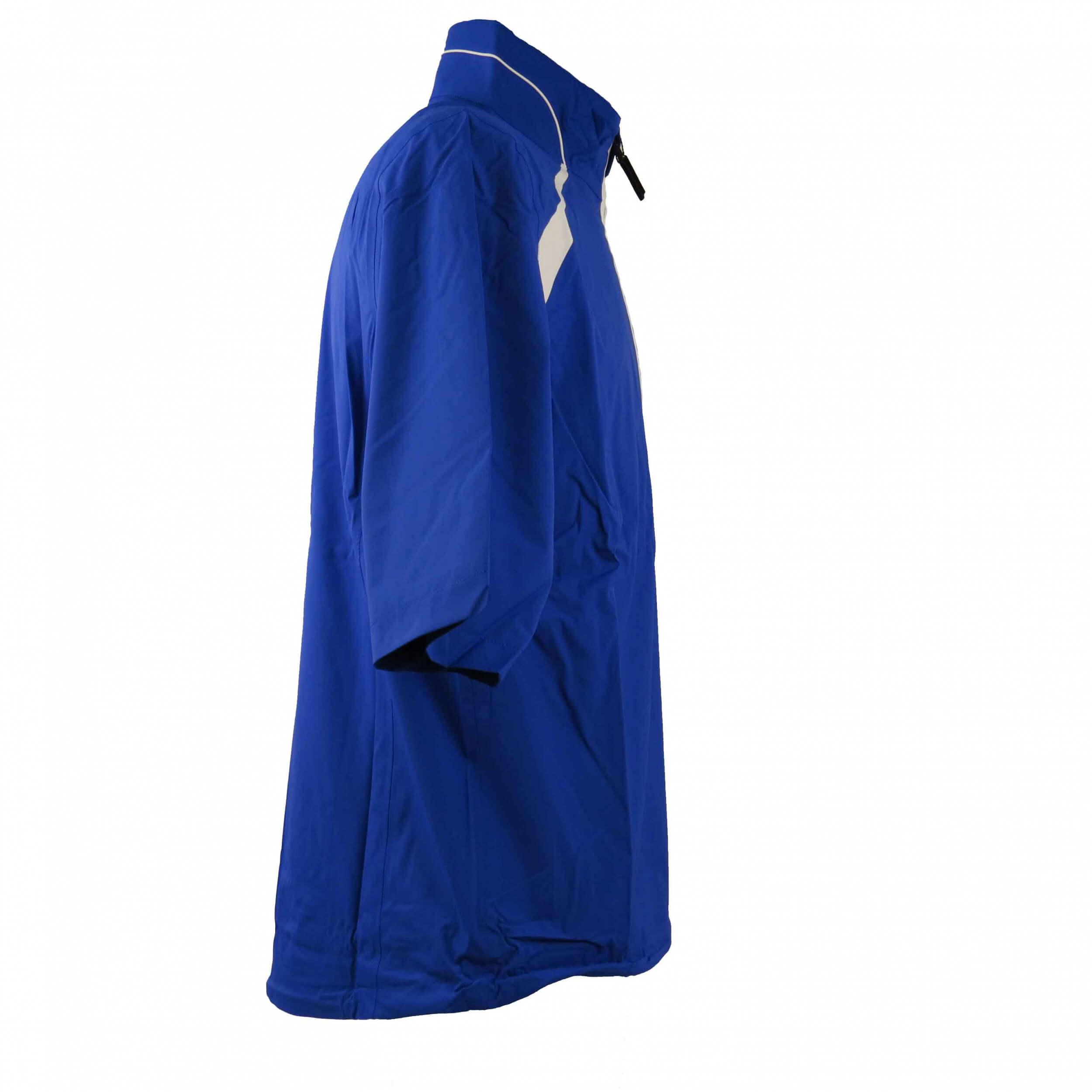 Chervo kurz Arm Regenshirt Ringer AQUA BLOCK blau 594