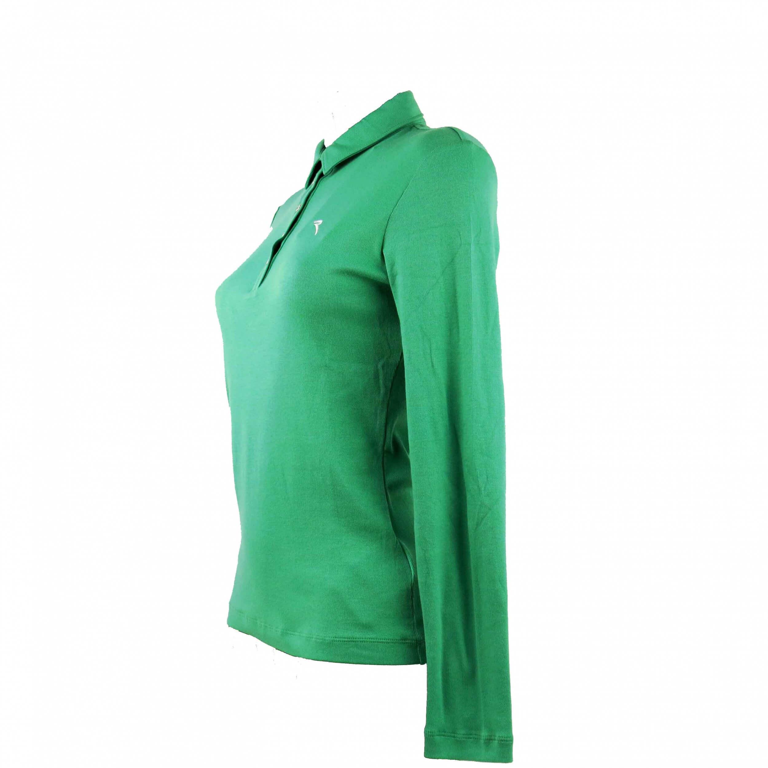 Chervo Damen Polo lang Arm COMFORT Ansa grün 642