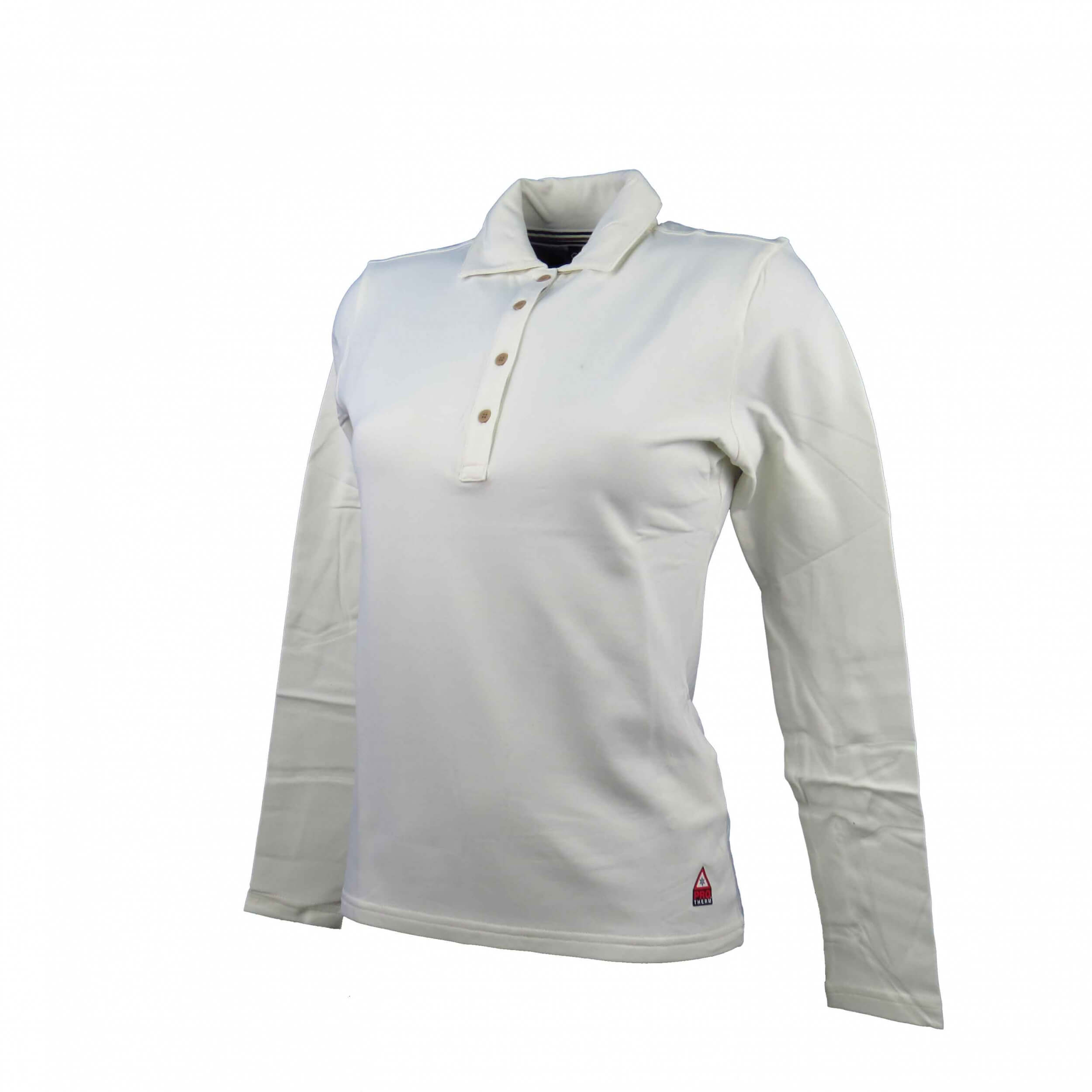 Chervo Damen Polo lang Arm PRO THERM Arfio creme 117