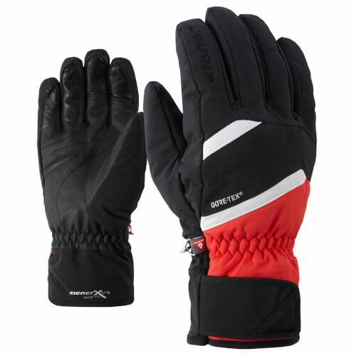 ZIENER Ski Handschuhe GORETEX Geysir rot schwarz 30