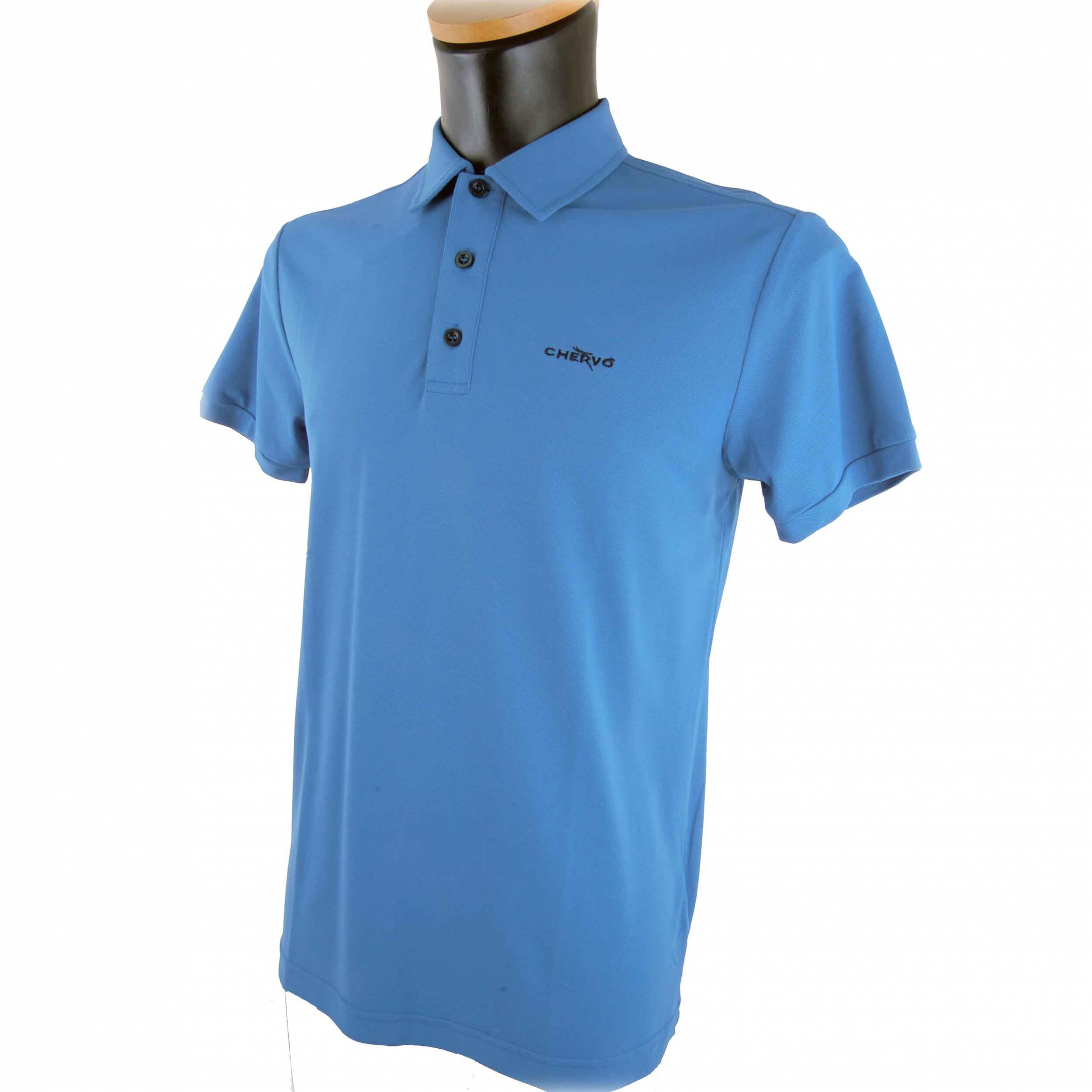 Chervo Herren Polo Aurusa DRY MATIC 507 blau