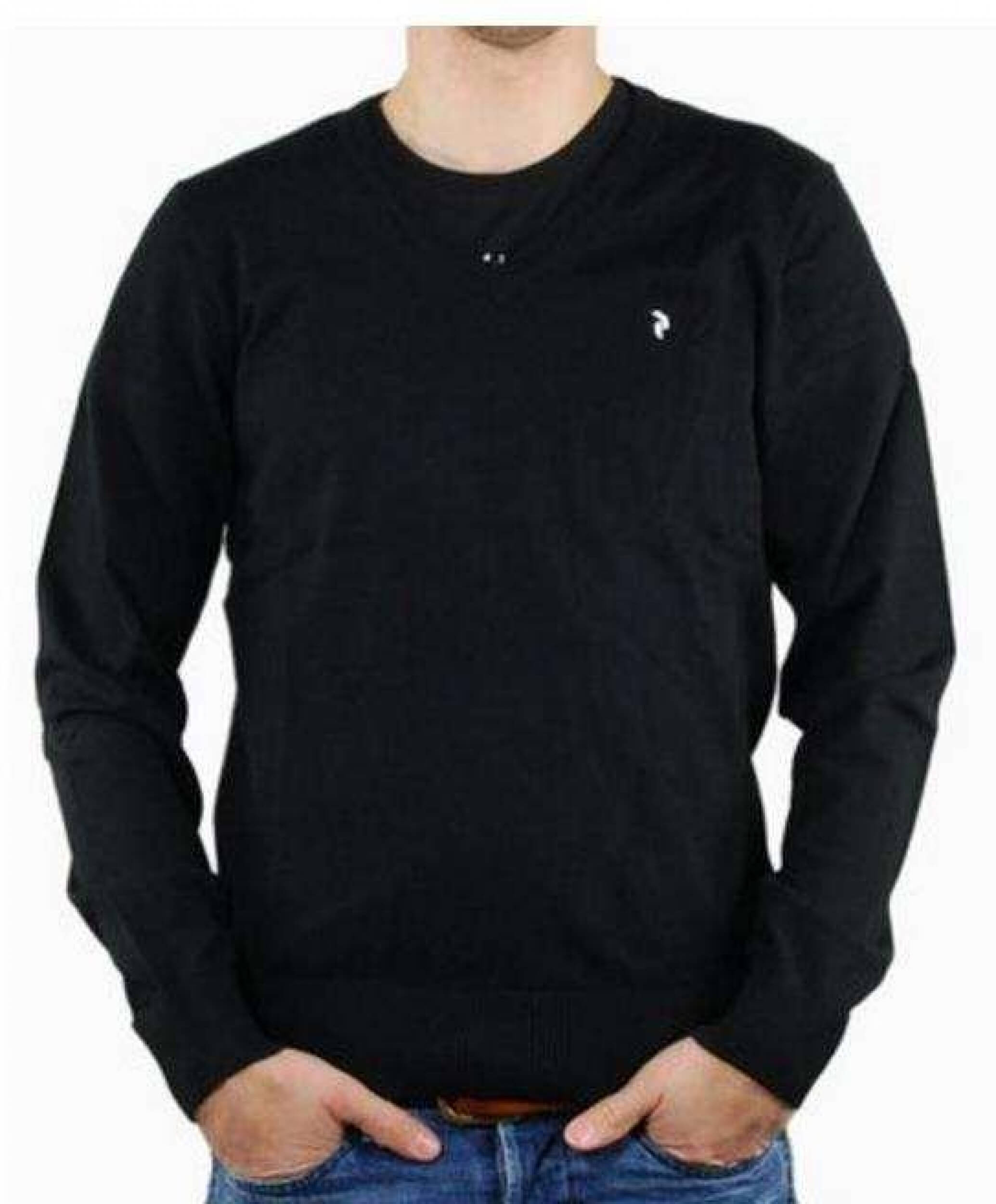 Peak Performance Herren Strick Pullover Golf VN schwarz
