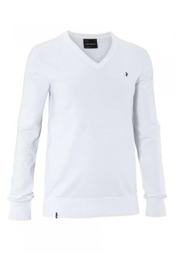 Peak Performance Herren Strick Pullover Golf VN weiß