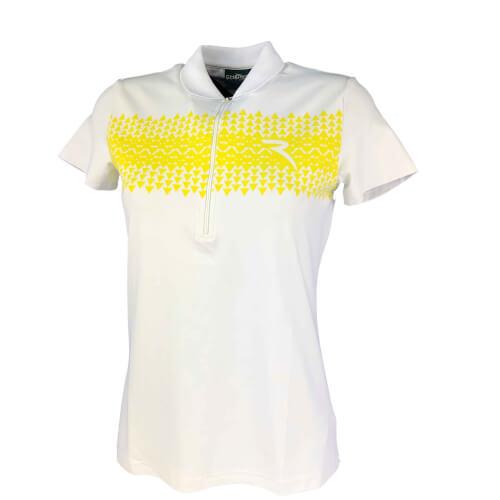 Chervo Damen Polo Aris SUN BLOCK weiß gelb 100 neu