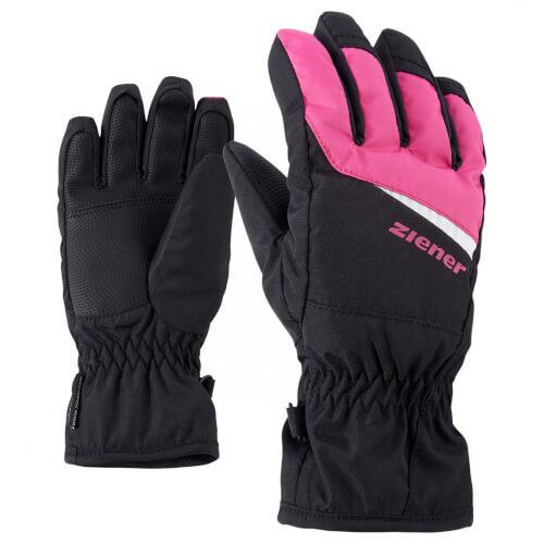 ZIENER Kinder Skihandschuhe Lipo AQUASHIELD pink schwarz 12766