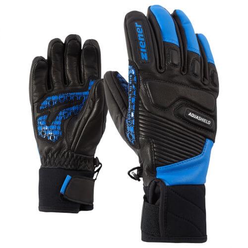 ZIENER Ski Kinder Handschuhe Lisor AQUASHIELD schwarz blau 12798