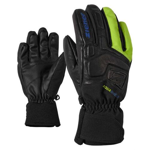 ZIENER Kinder Handschuhe AQUASHIELD Lyx schwarz grün 12568
