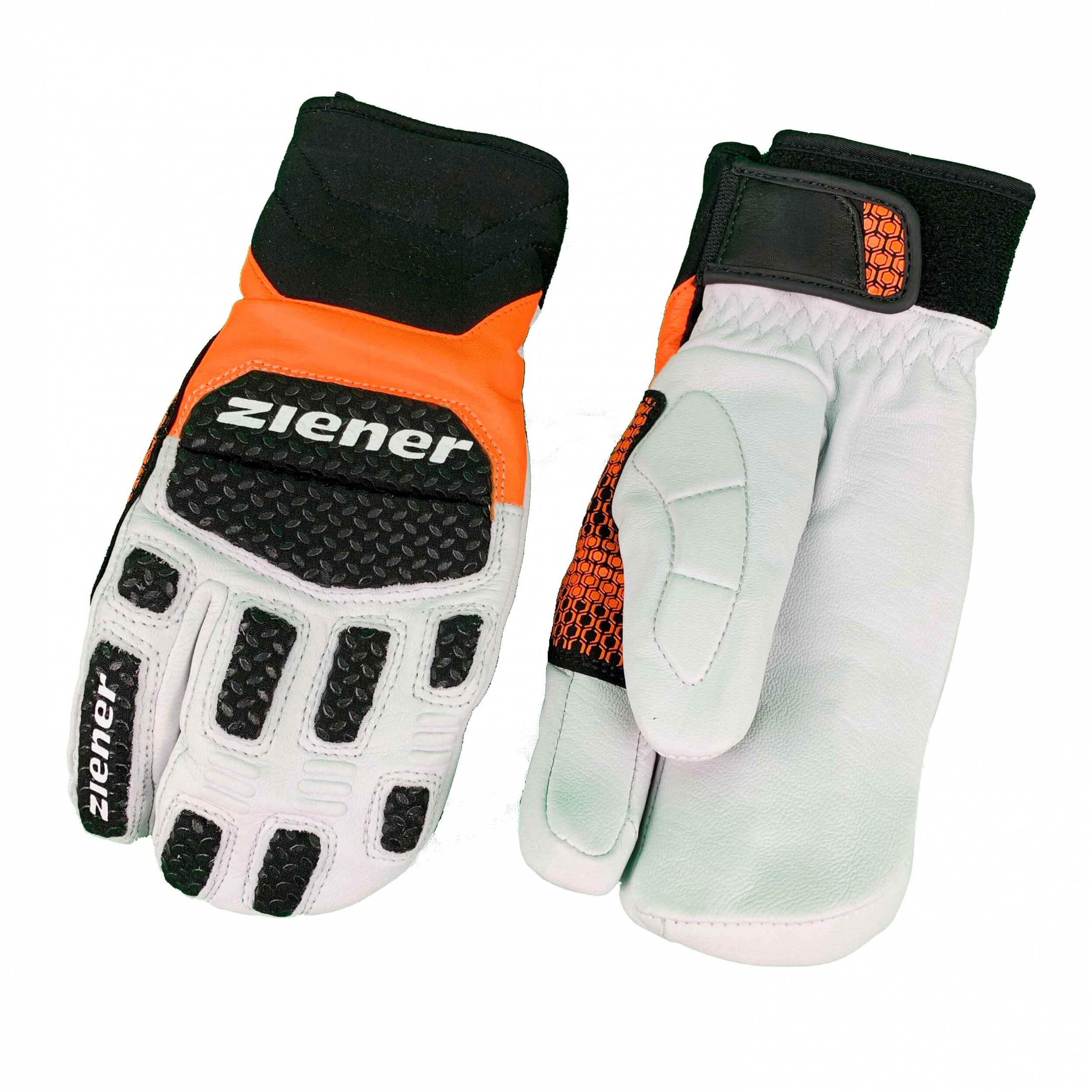 ZIENER Ski Race Handschuhe SPEED WARM Lobster orange 738