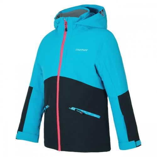 ZIENER Kinder Skijacke Amige schwarz blau 12