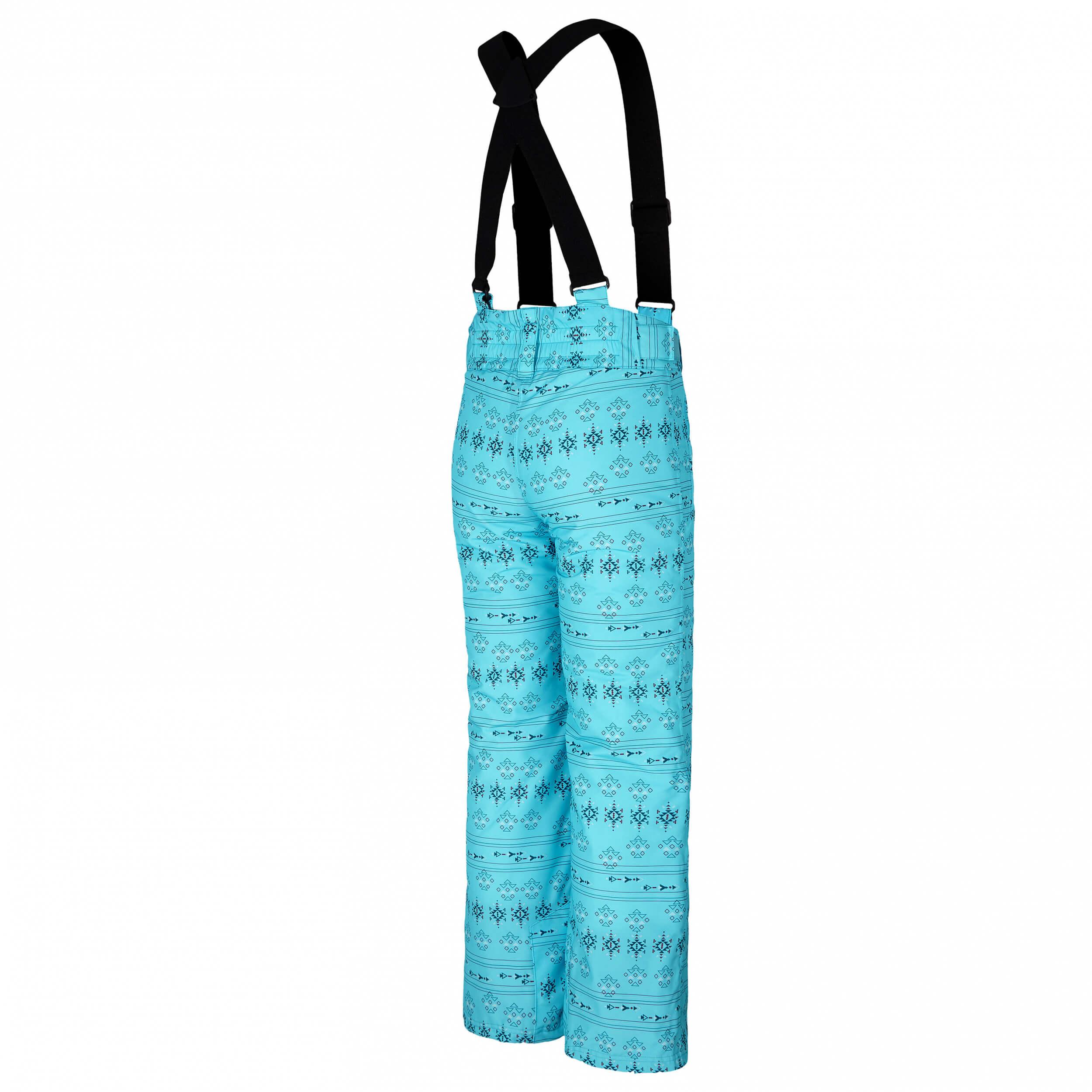 ZIENER Kinder Skihose AQUA SHIELD Avatine blau gemustert 280