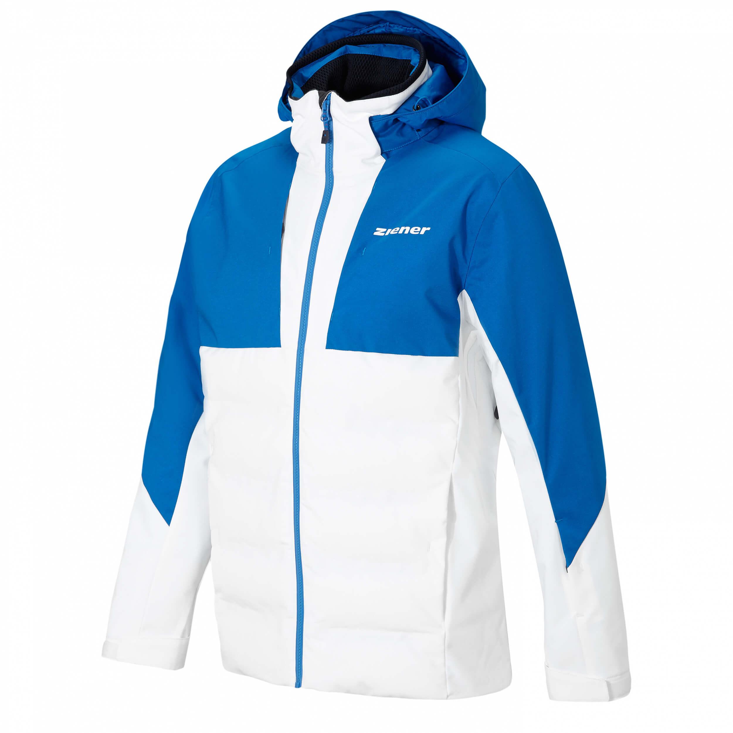 ZIENER Herren AQUA SHIELD Skijacke Tamar weiß blau 01