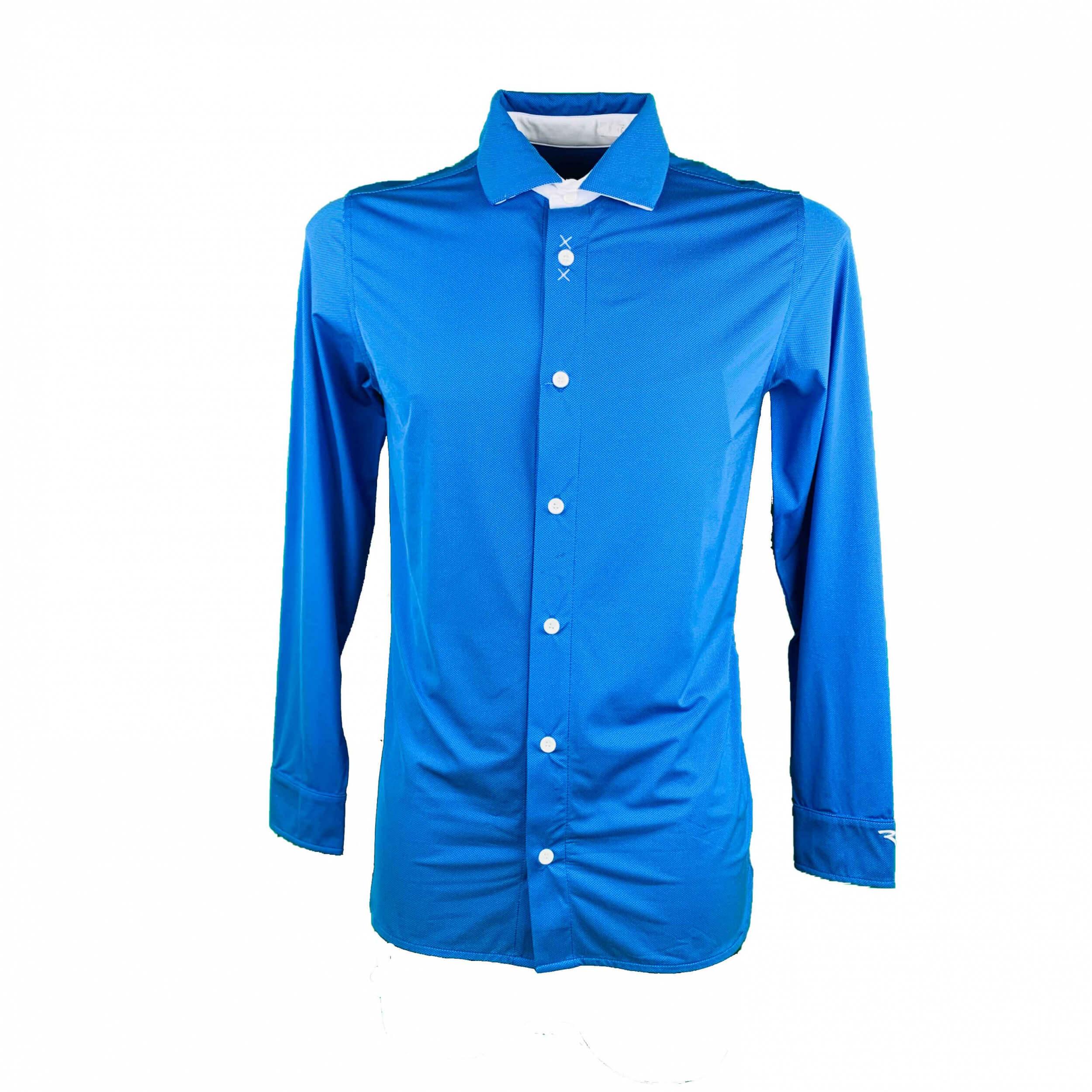Chervo Herren lang Arm Hemd Davide DRY MATIC blau 2.Wahl