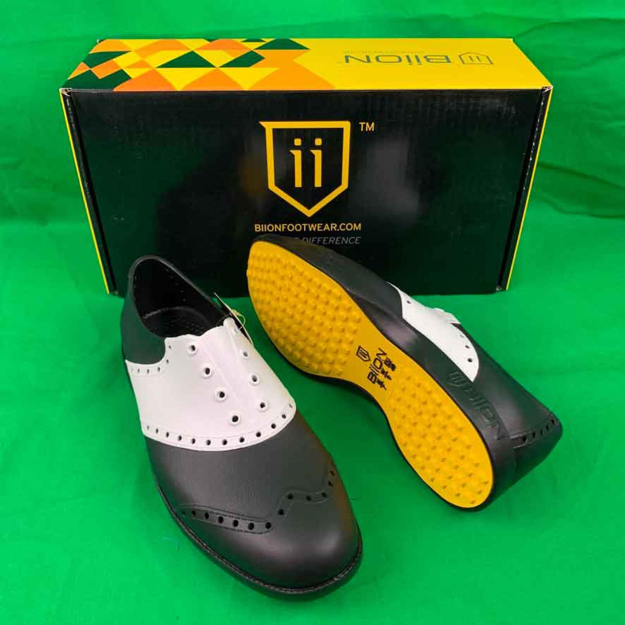 Biion Golfschuhe Saddles schwarz weiß BS - 1007