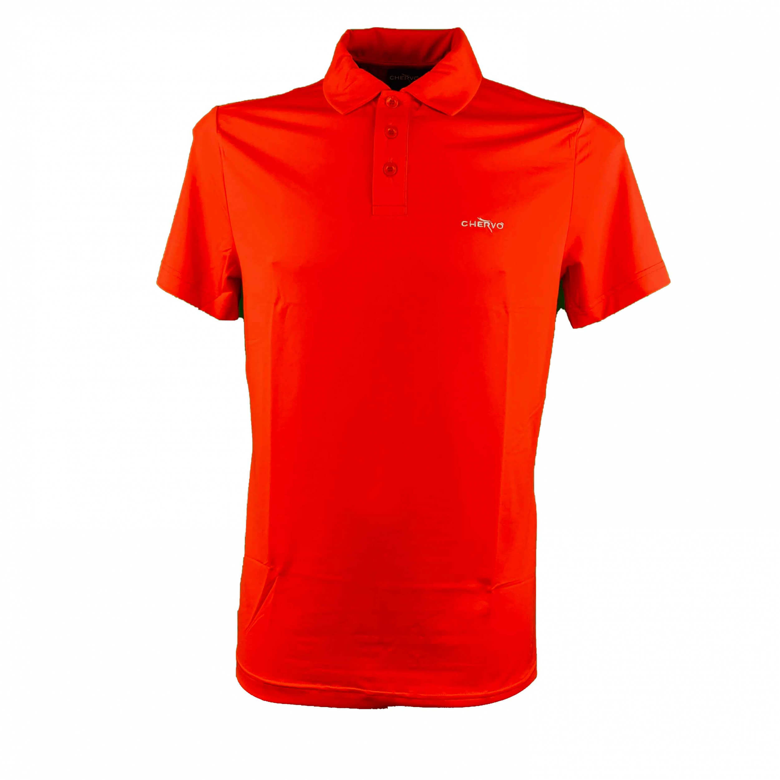 Chervo Herren Polo Autslim Sun Block orange 370