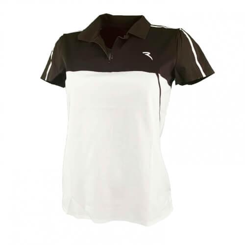 Chervo Damen Polo Aisha SUN BLOCK weiß schwarz 100