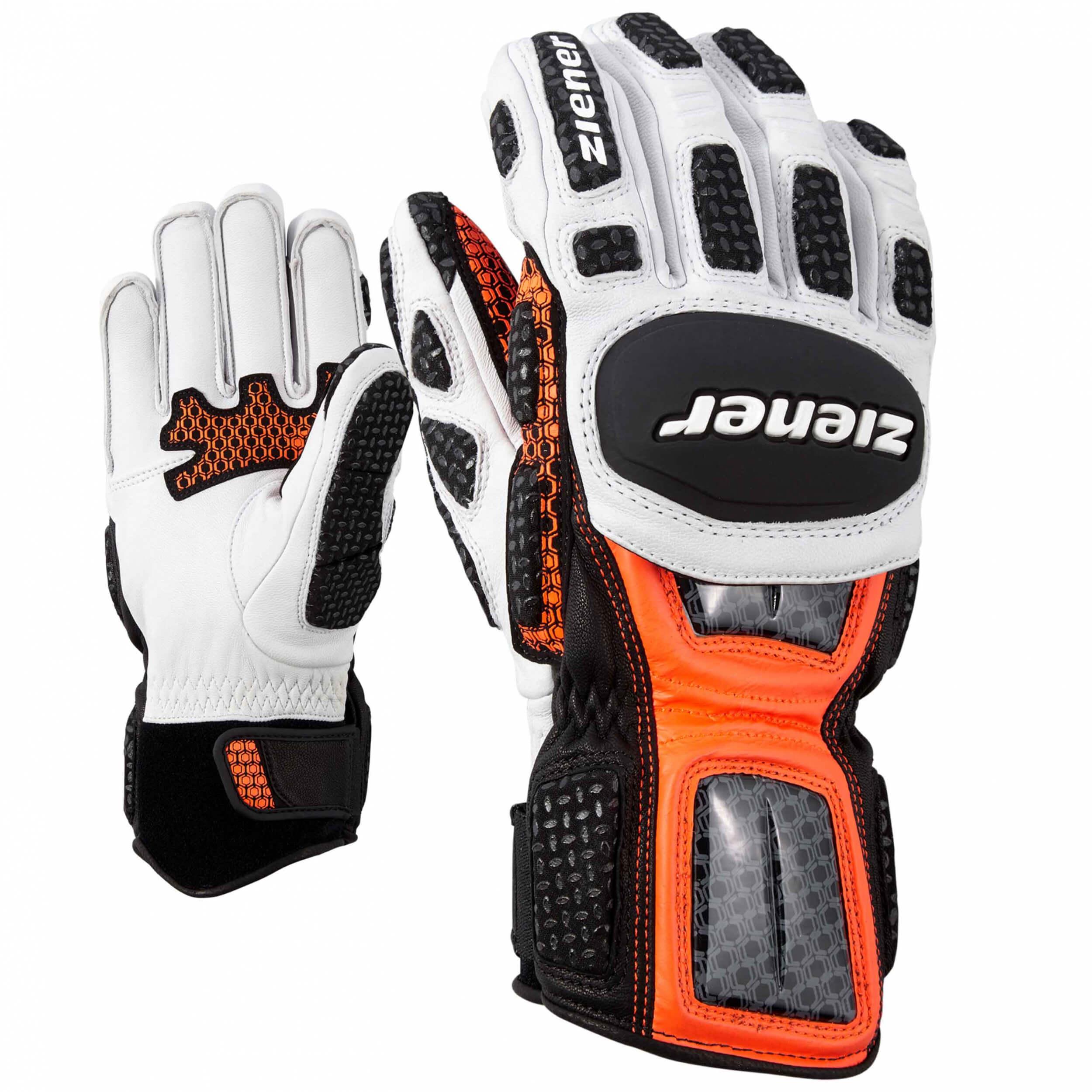 ZIENER Ski Race Handschuhe Giant Slalom orange 738