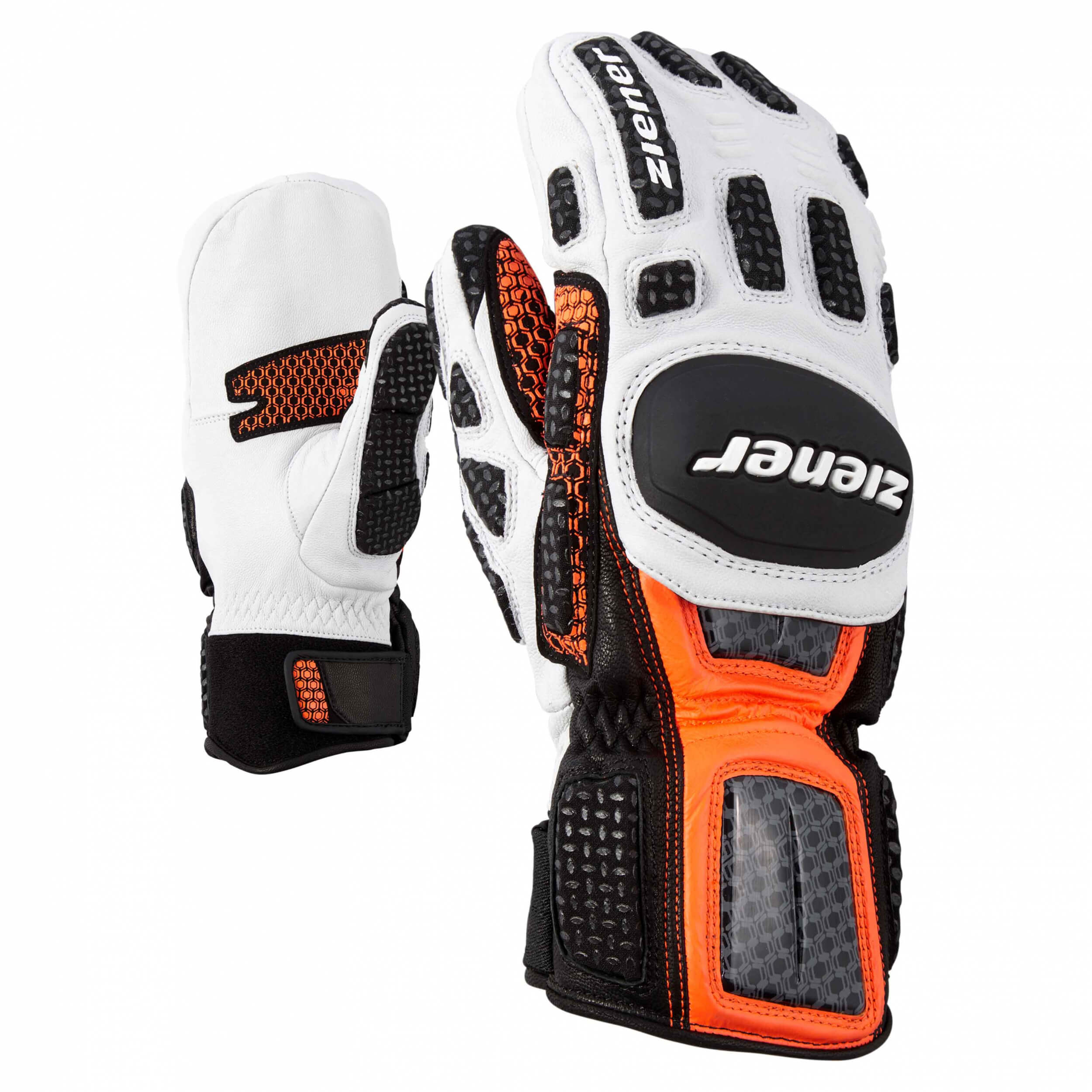 ZIENER Ski Race Handschuhe Giant Slalom MITTEN orange 738