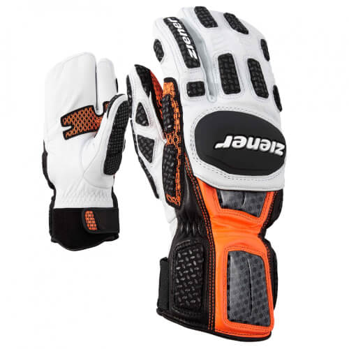 ZIENER Ski Race Handschuhe Giant Slalom LOBSTER orange 738
