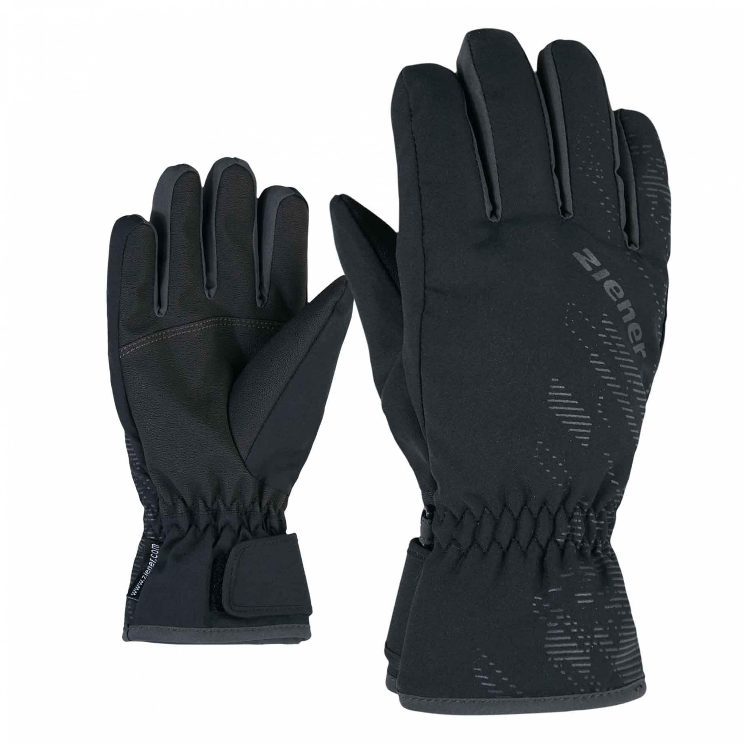 ZIENER Kinder Ski-Handschuhe Luffi AQUASHIELD schwarz 12