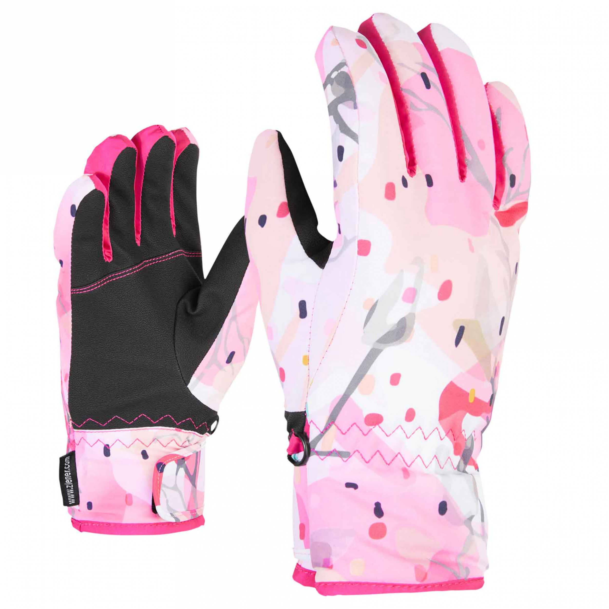 ZIENER Kinder Ski-Handschuhe Luffi AQUASHIELD pink 885