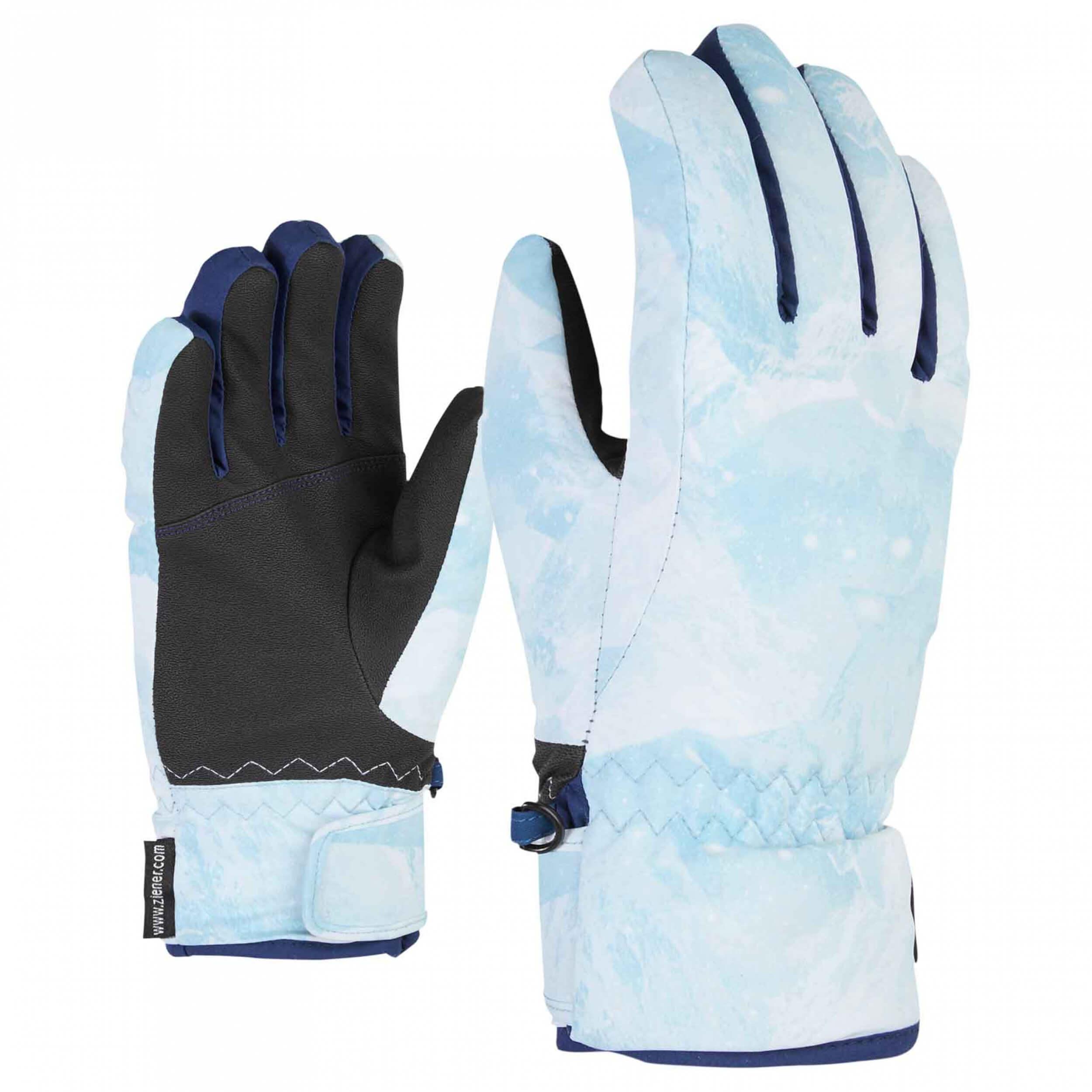 ZIENER Kinder Ski-Handschuhe Luffi AQUASHIELD hellblau 887