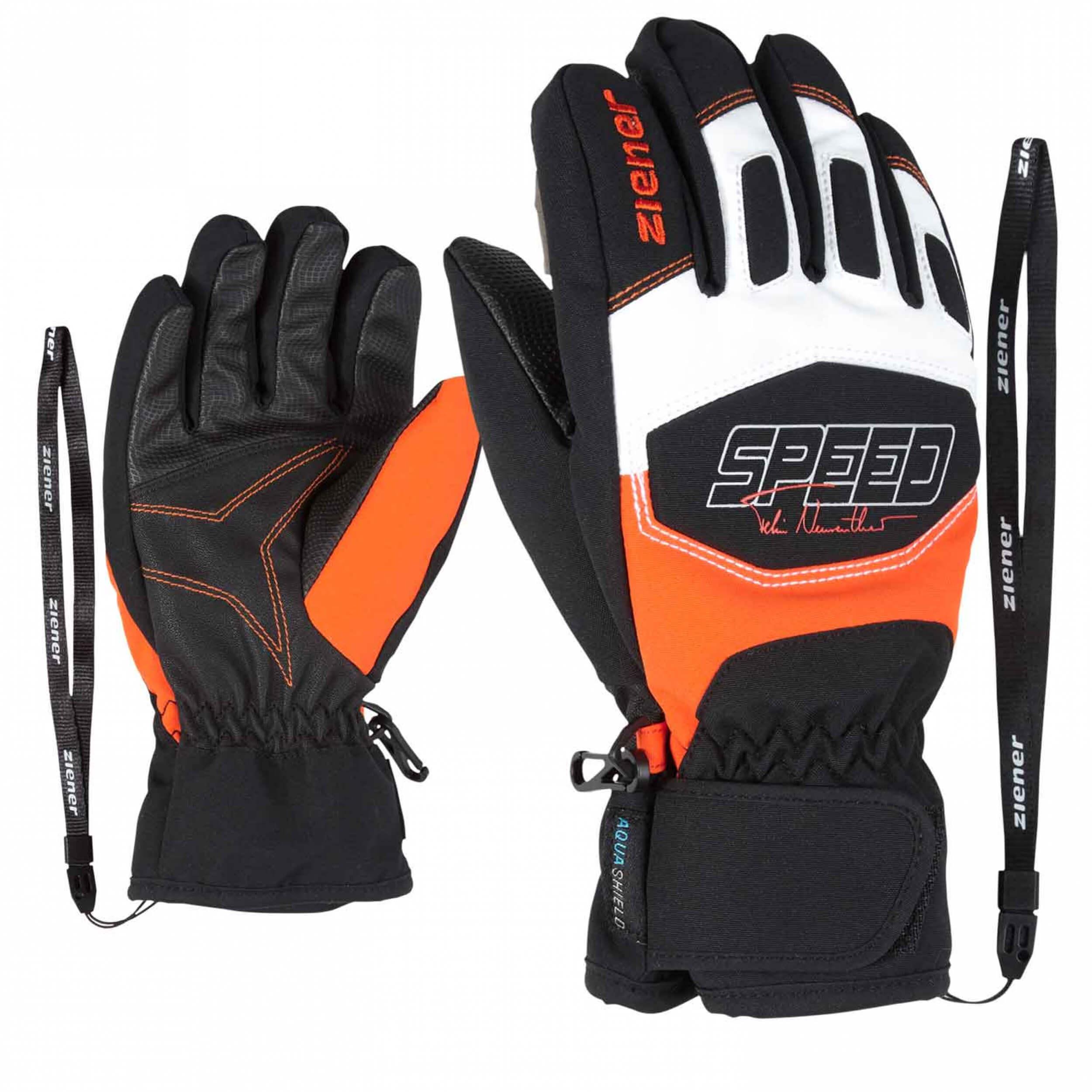 ZIENER Kinder Ski-Handschuhe Leedim AQUASHIELD orange 187