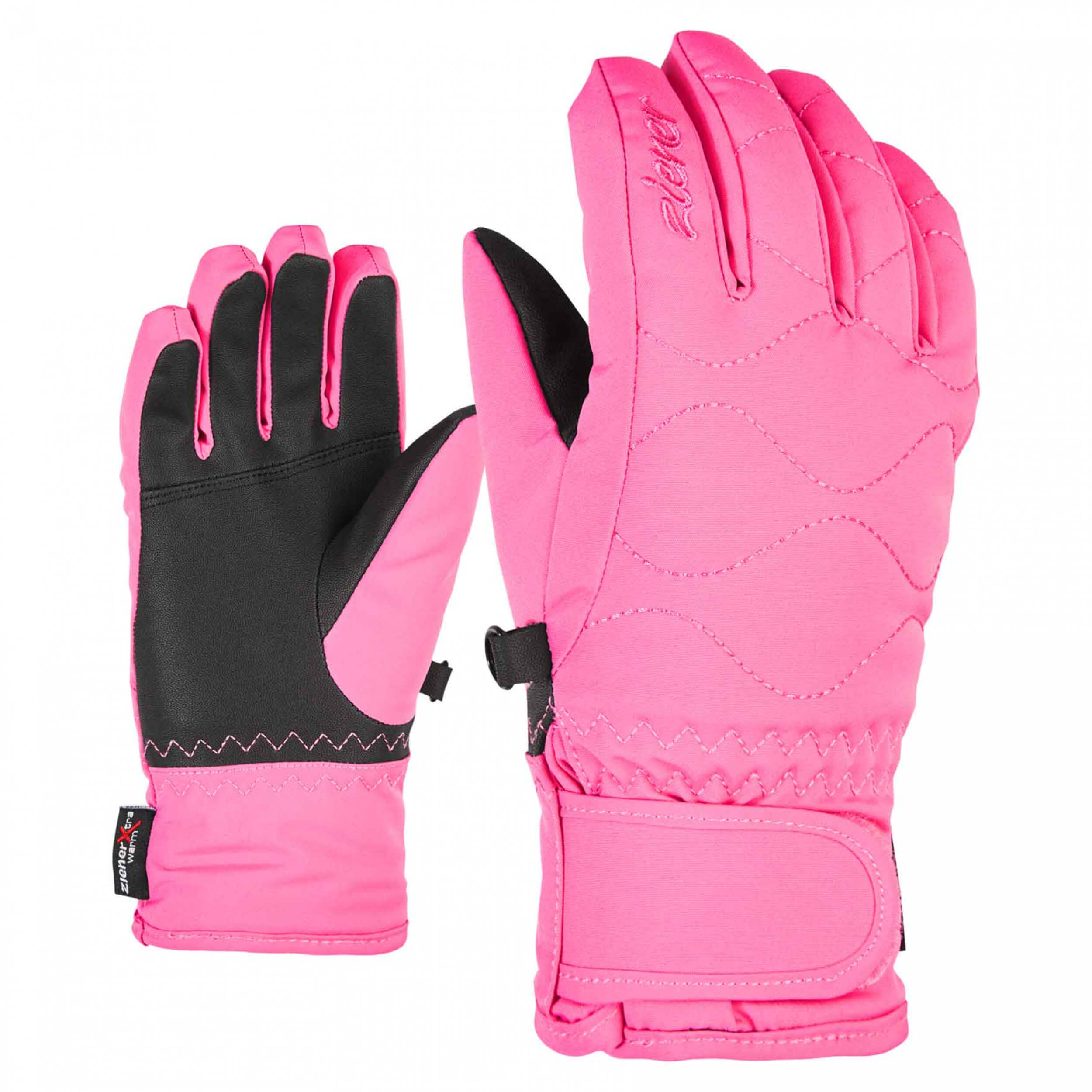 ZIENER Kinder Ski-Handschuhe Lanta AQUASHIELD pink 256