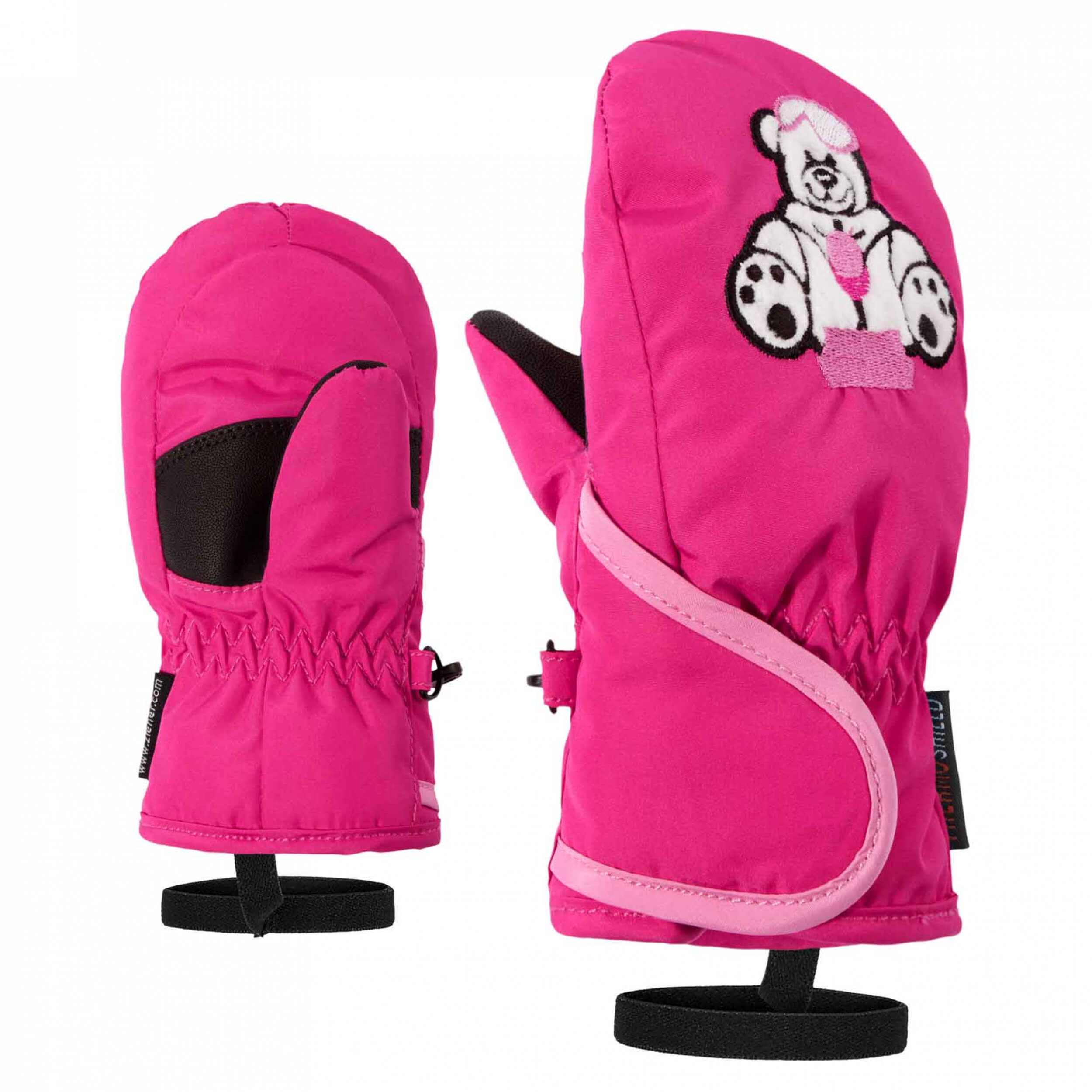 ZIENER Kinder Mini Fäustlinge AQUASHIELD Lollo pink 766