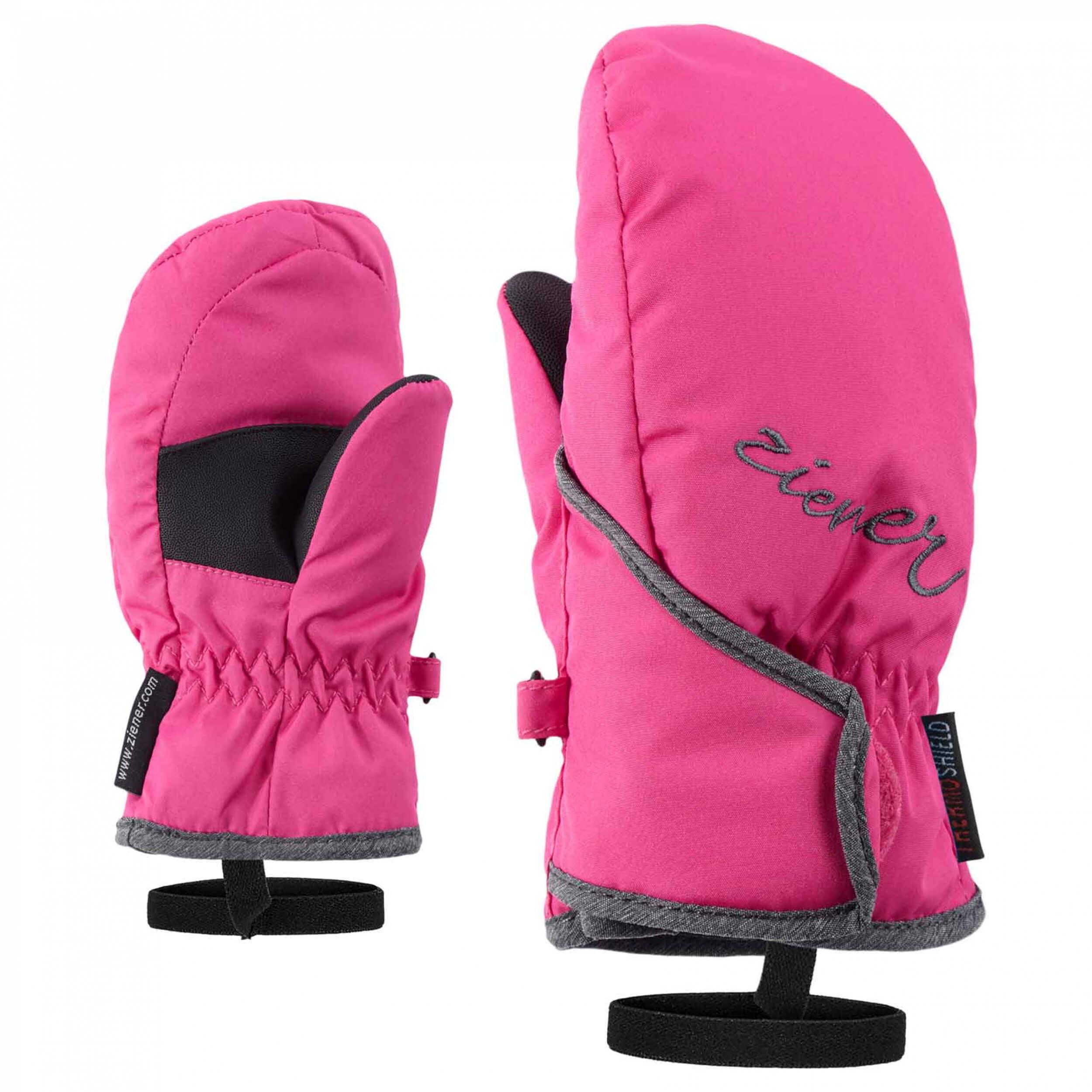 ZIENER Kinder Mini Fäustlinge AQUASHIELD Lollo pink grau 766822