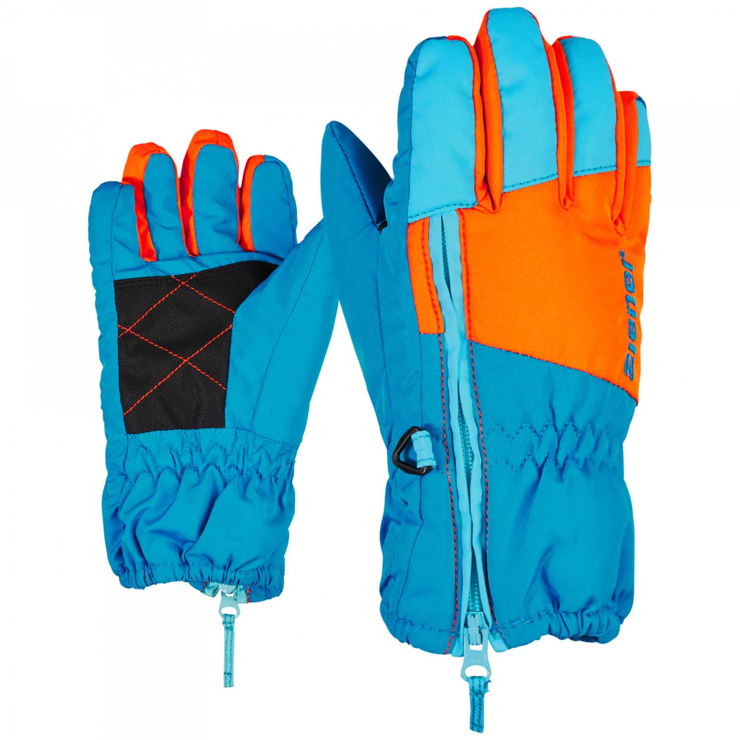 ZIENER Kinder mini Handschuhe LUDO blau orange 230