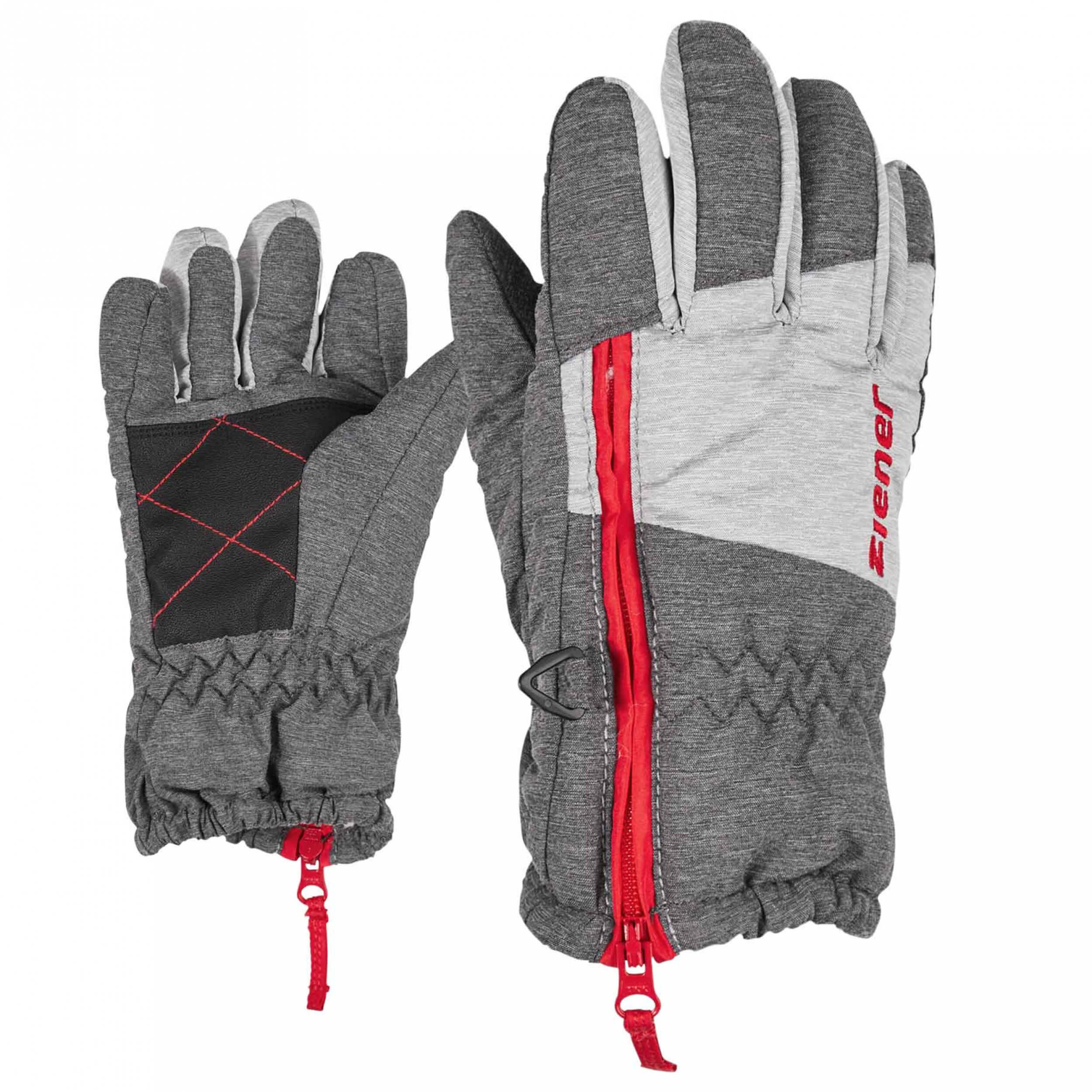 ZIENER Kinder mini Handschuhe LUDO grau 822