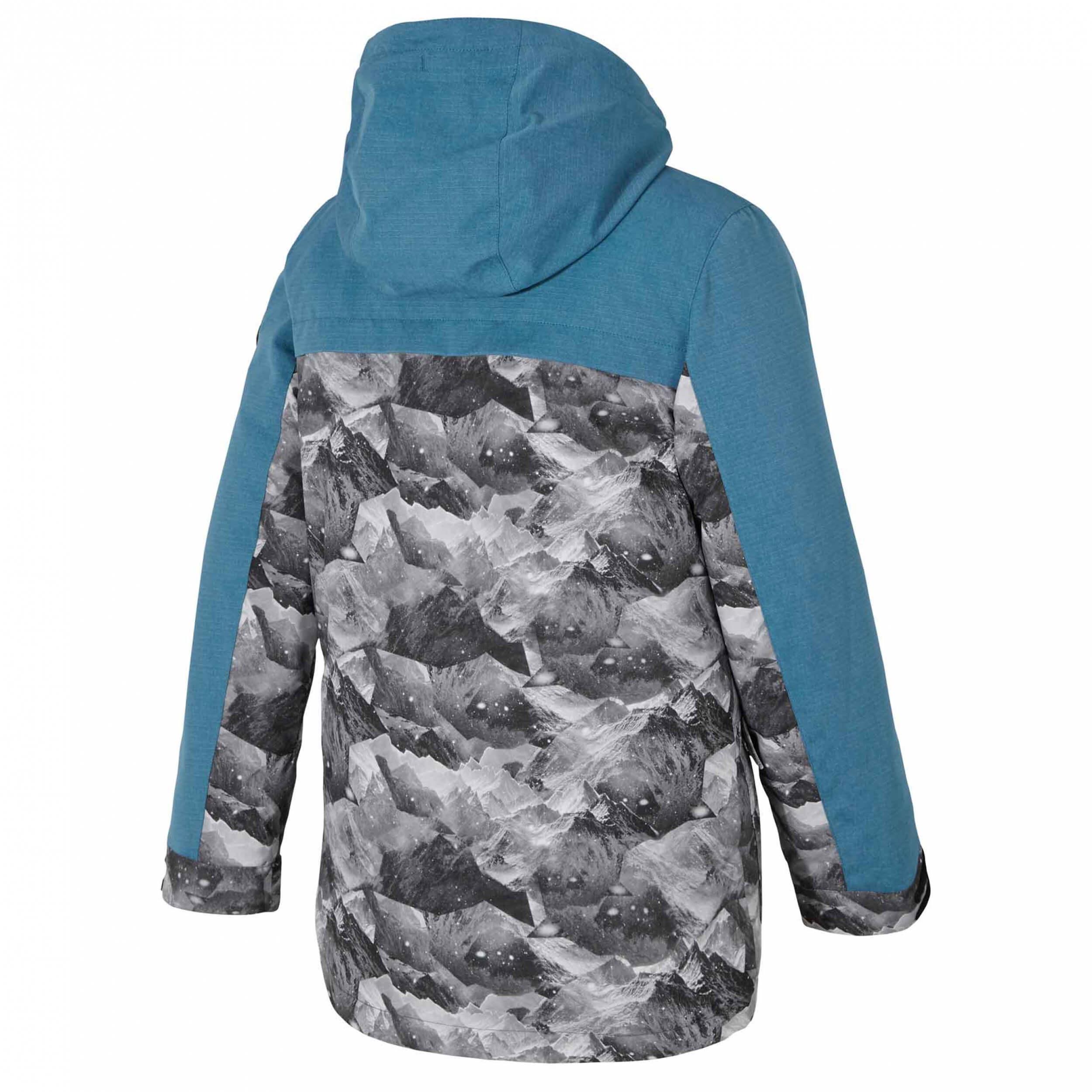 ZIENER Kinder Skijacke Alinus AQUASHIELD blau grau 891