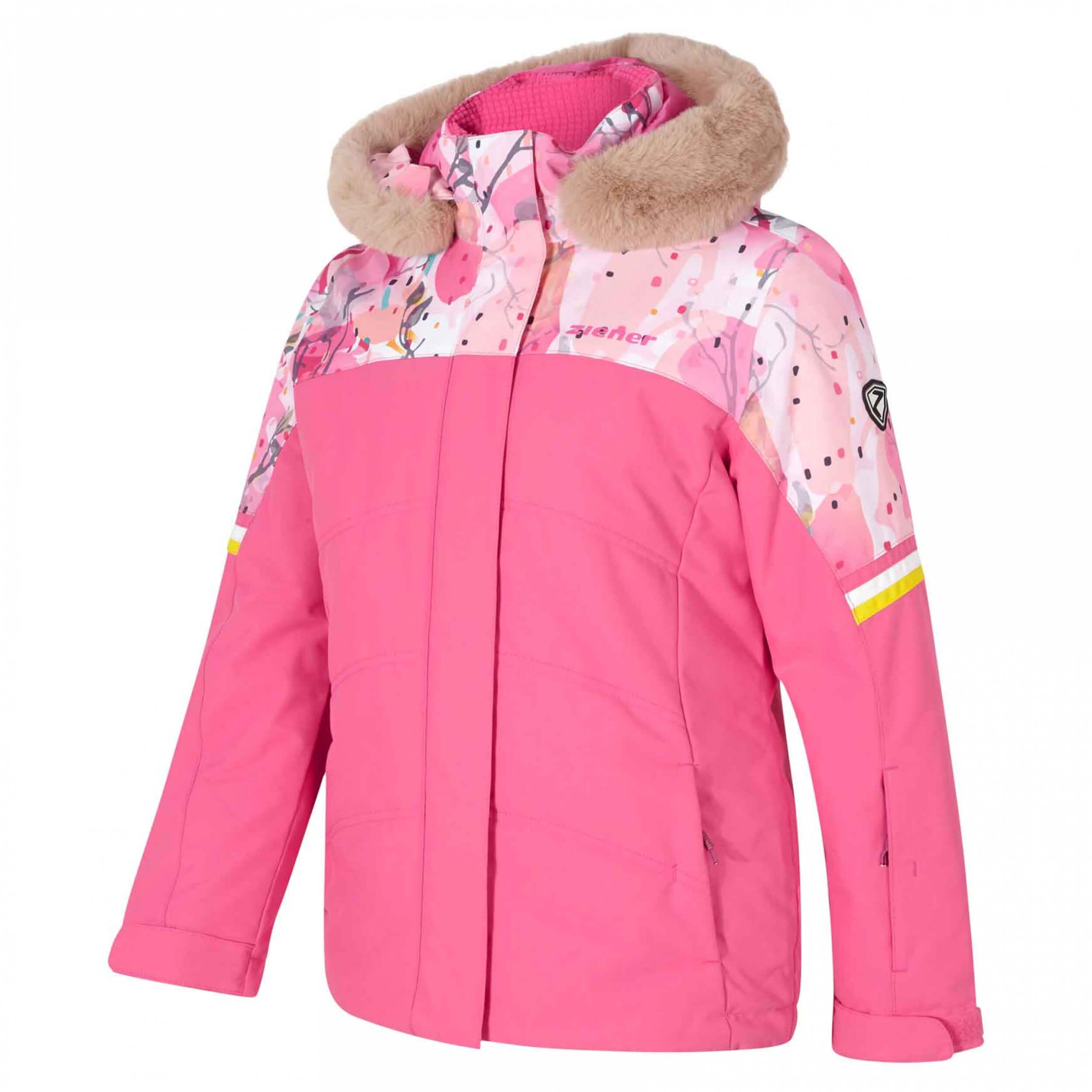 ZIENER Kinder Skijacke Athilda AQUASHIELD pink 256