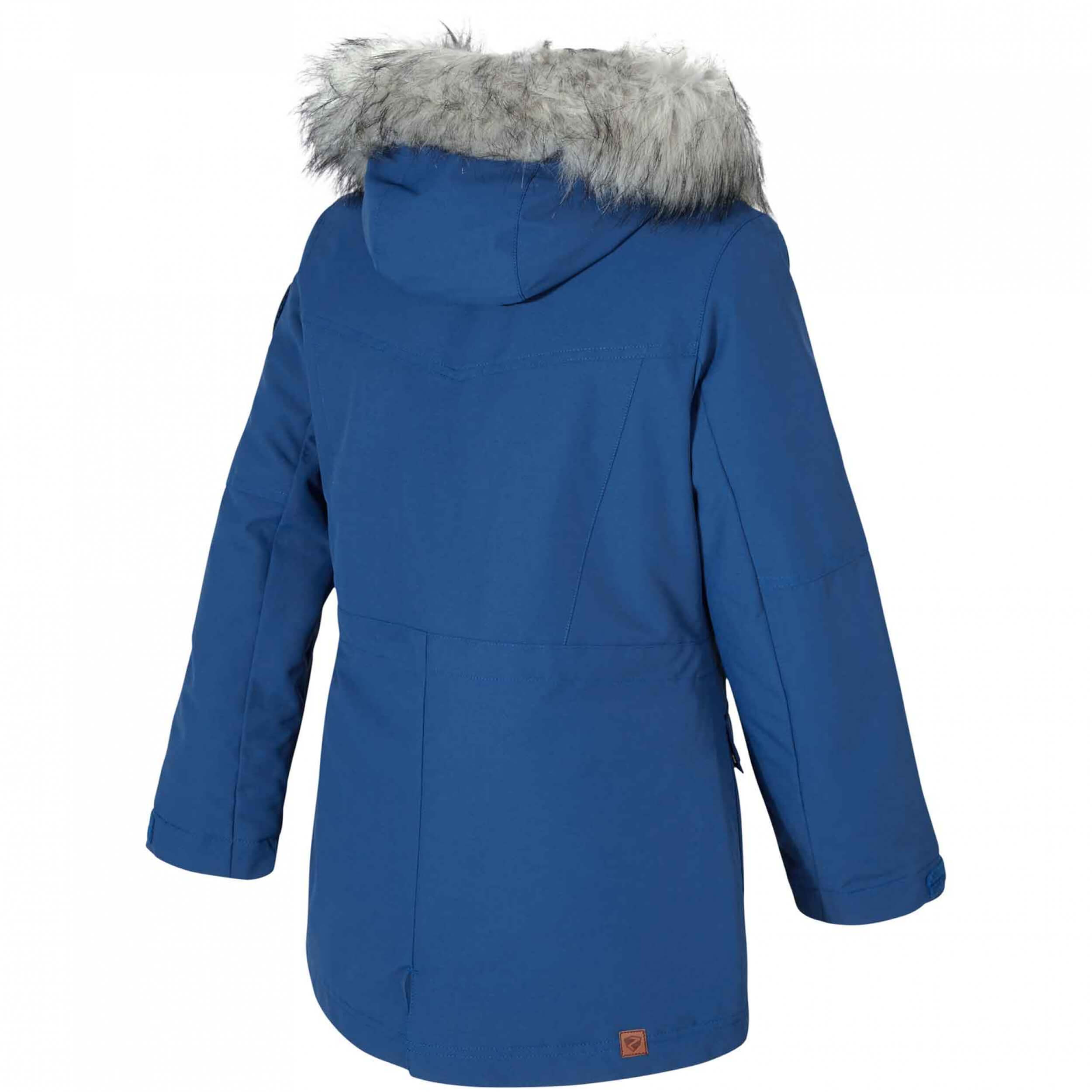 ZIENER Kinder Skijacke Amarla AQUASHIELD blau 204