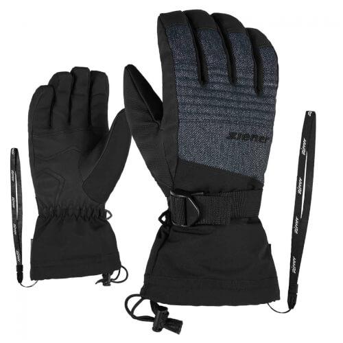 ZIENER Ski Handschuhe Gannik AQUASHIELD grau 922