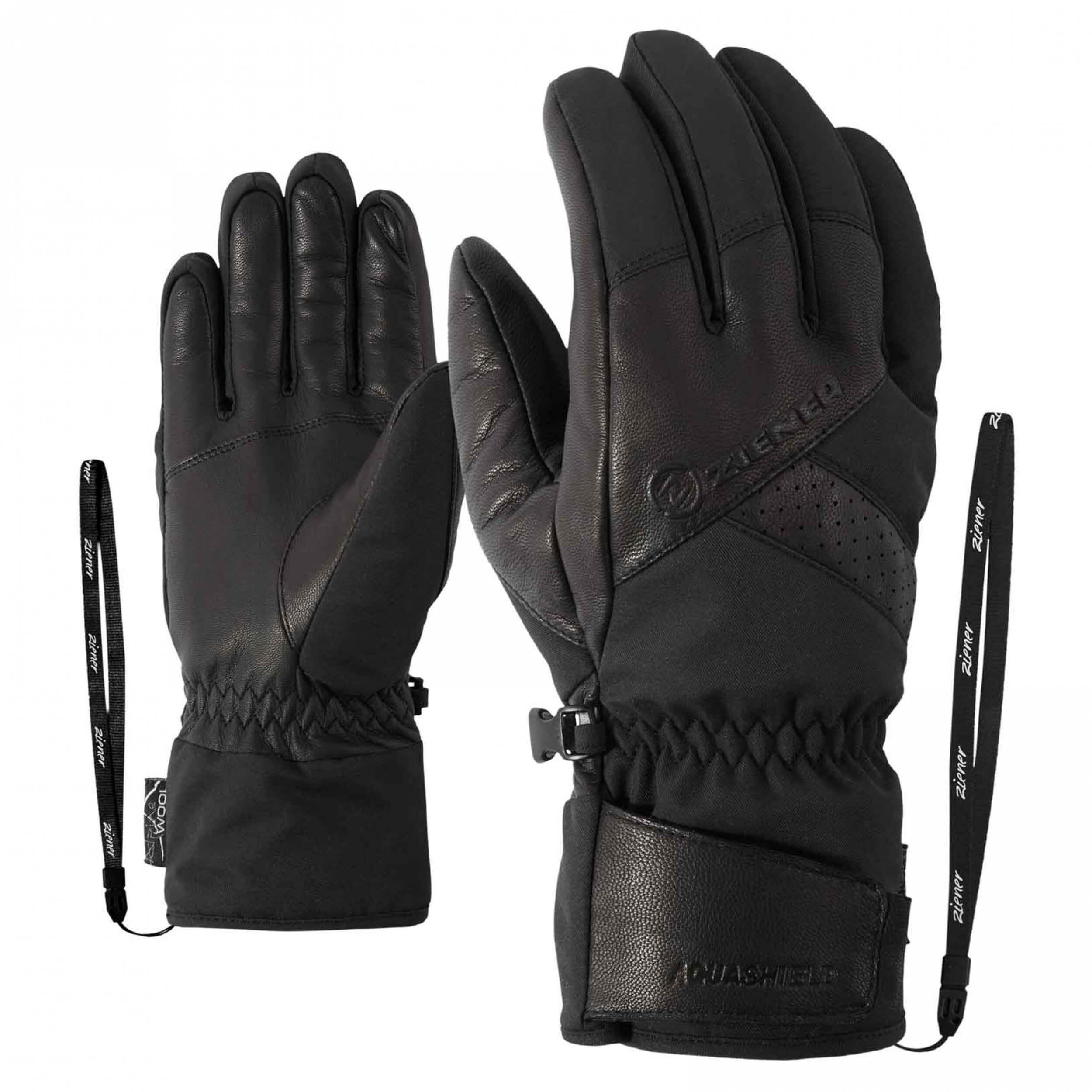 ZIENER Ski Handschuhe Getter Thermo Shield schwarz 12