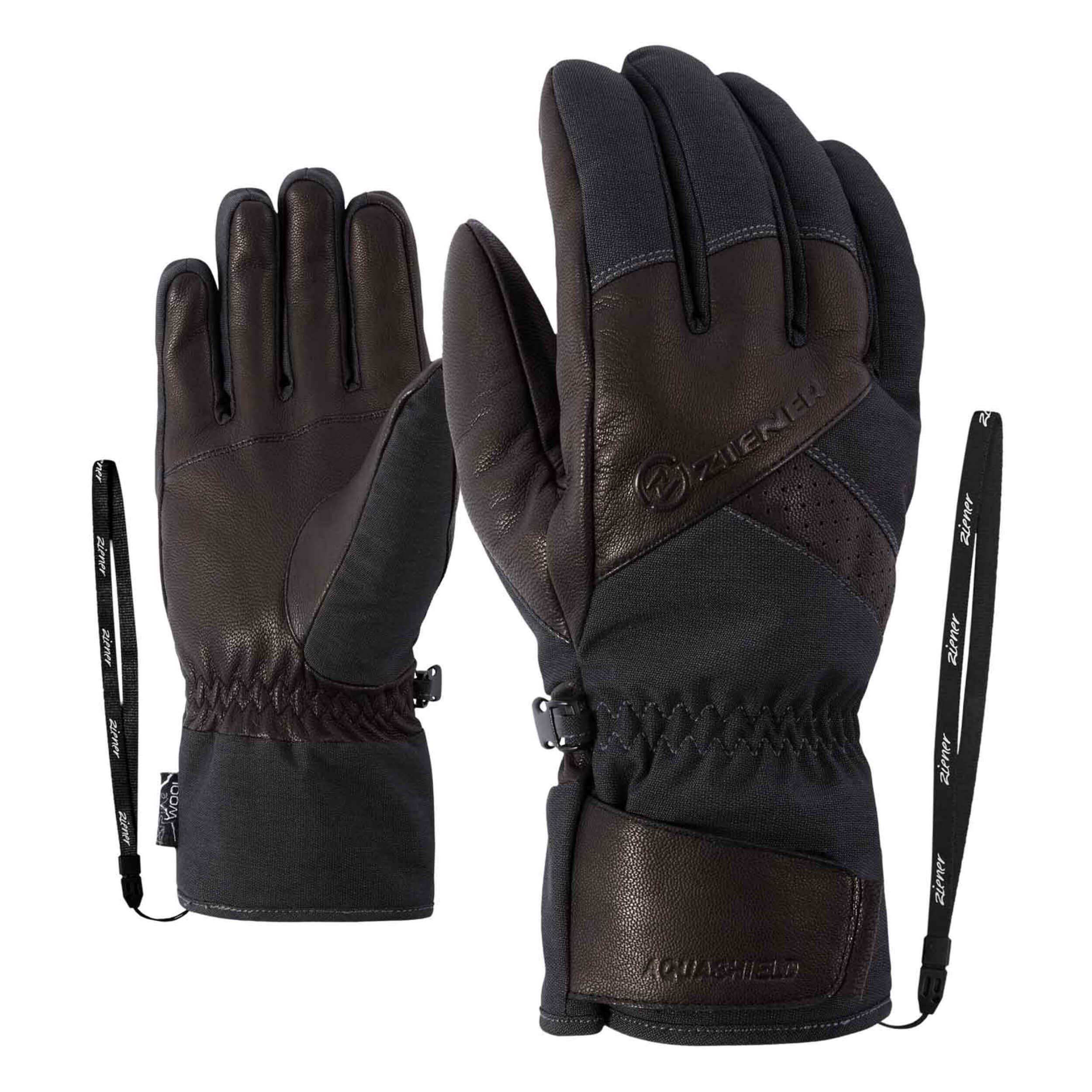 ZIENER Ski Handschuhe Getter Thermo Shield grau 869